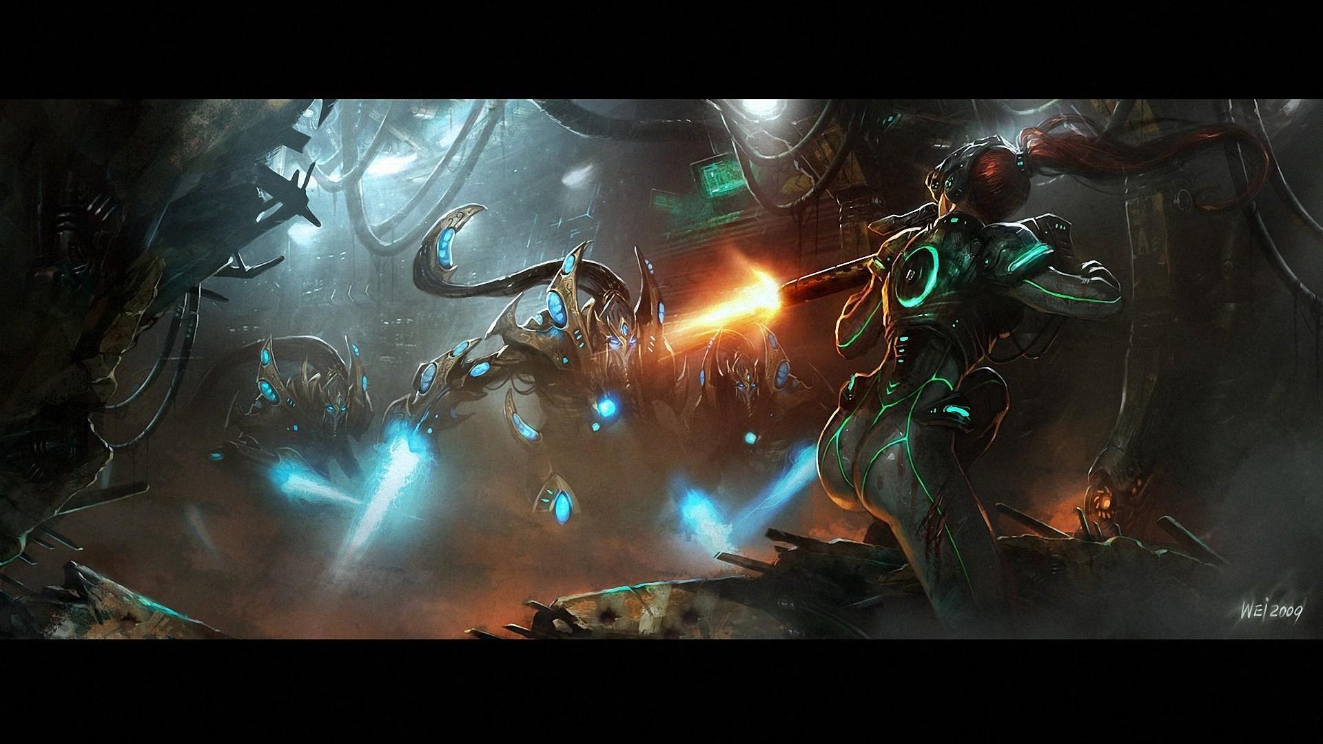 starcraft protoss high templar wallpaper | Starcraft 2 Kerrigan Wallpaper  1080p #1