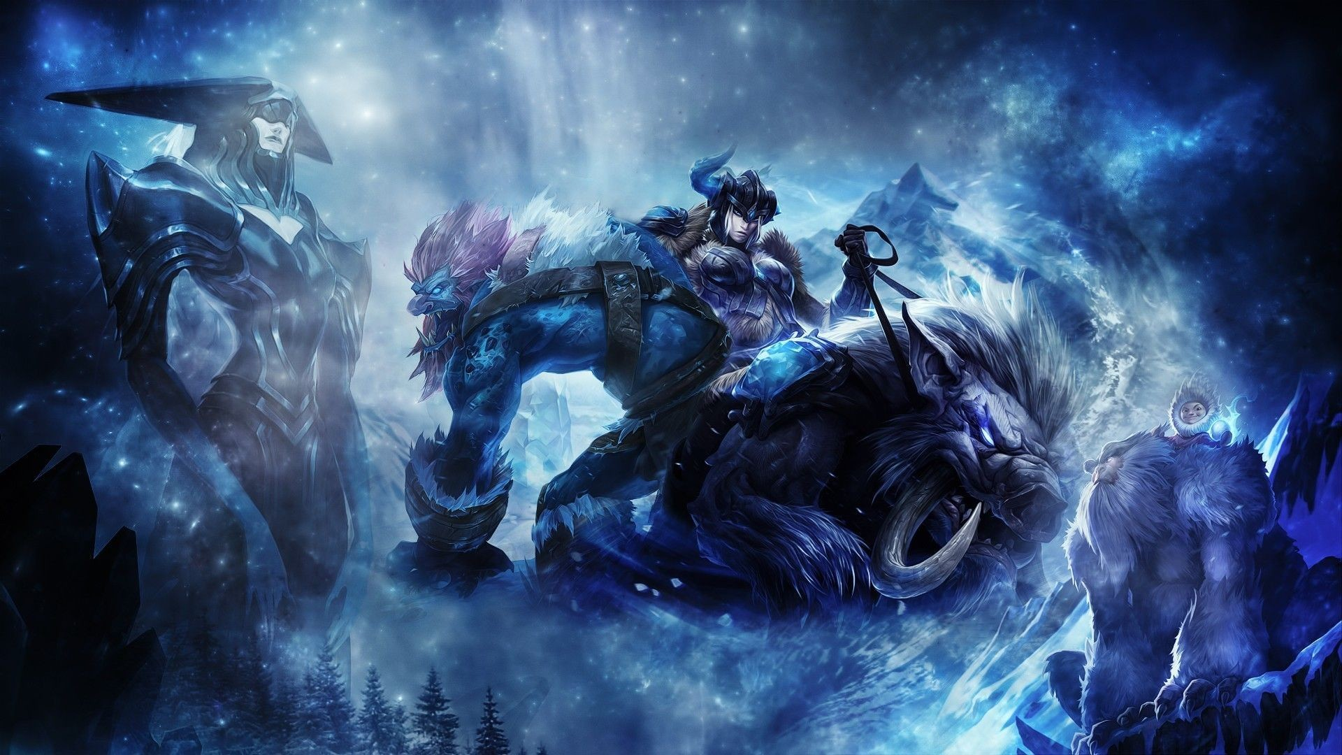 HDscreen: League of Legends artwork fantasy art video games winter .