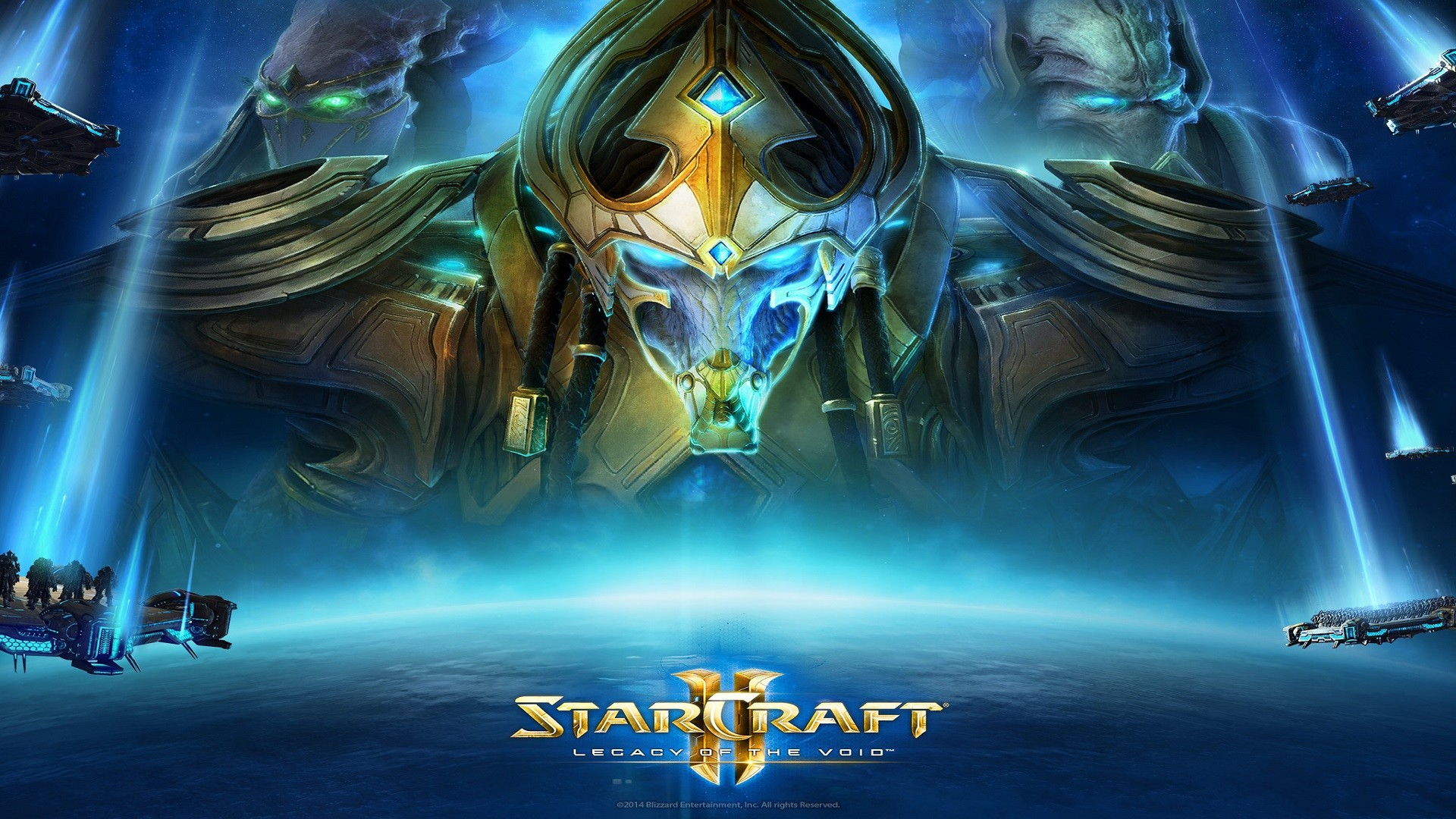 wallpaper legacy of the void protoss starcraft planet.