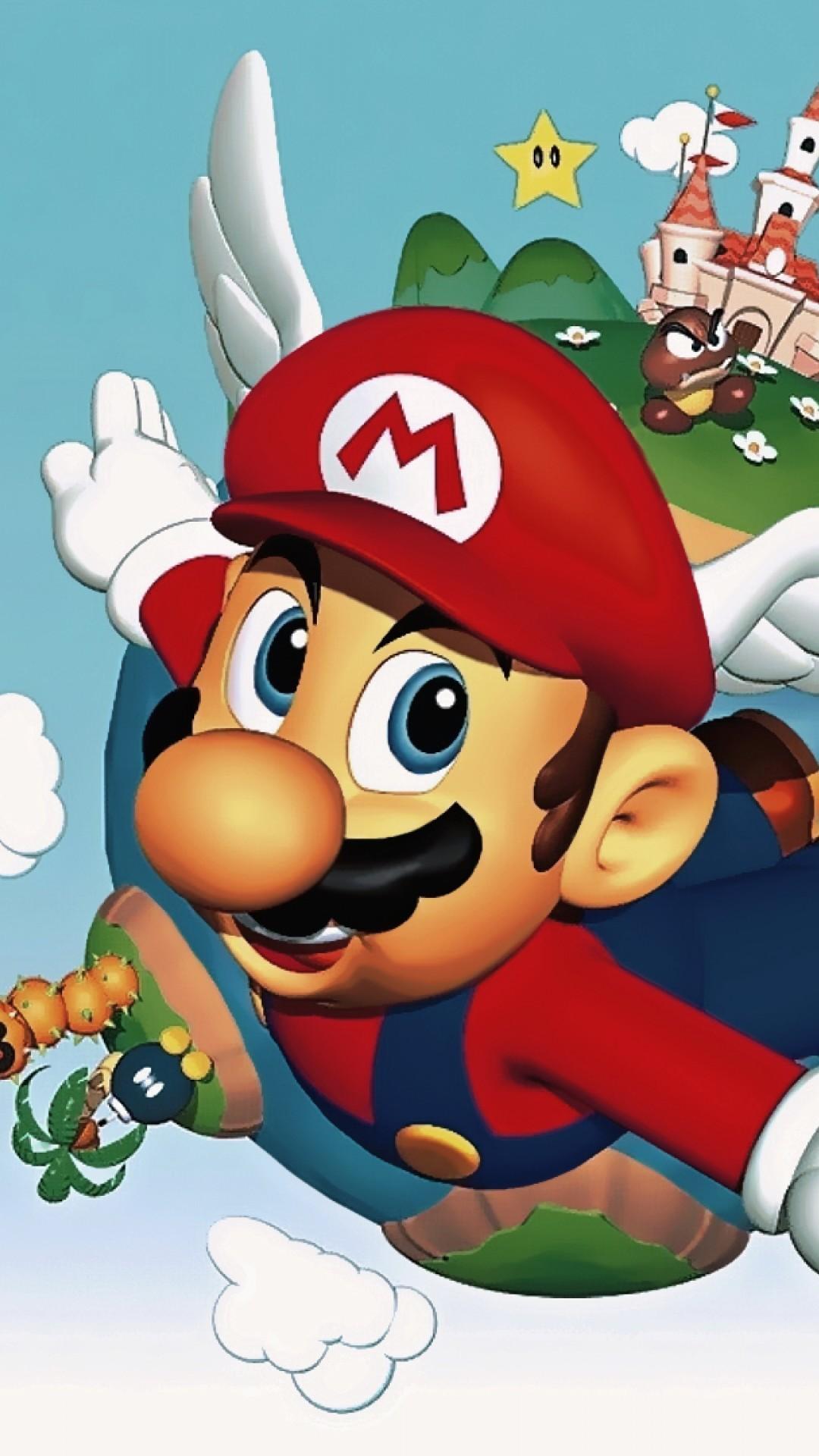 Super Mario 64 Quotes iPhone 6 Plus – Wallpaper