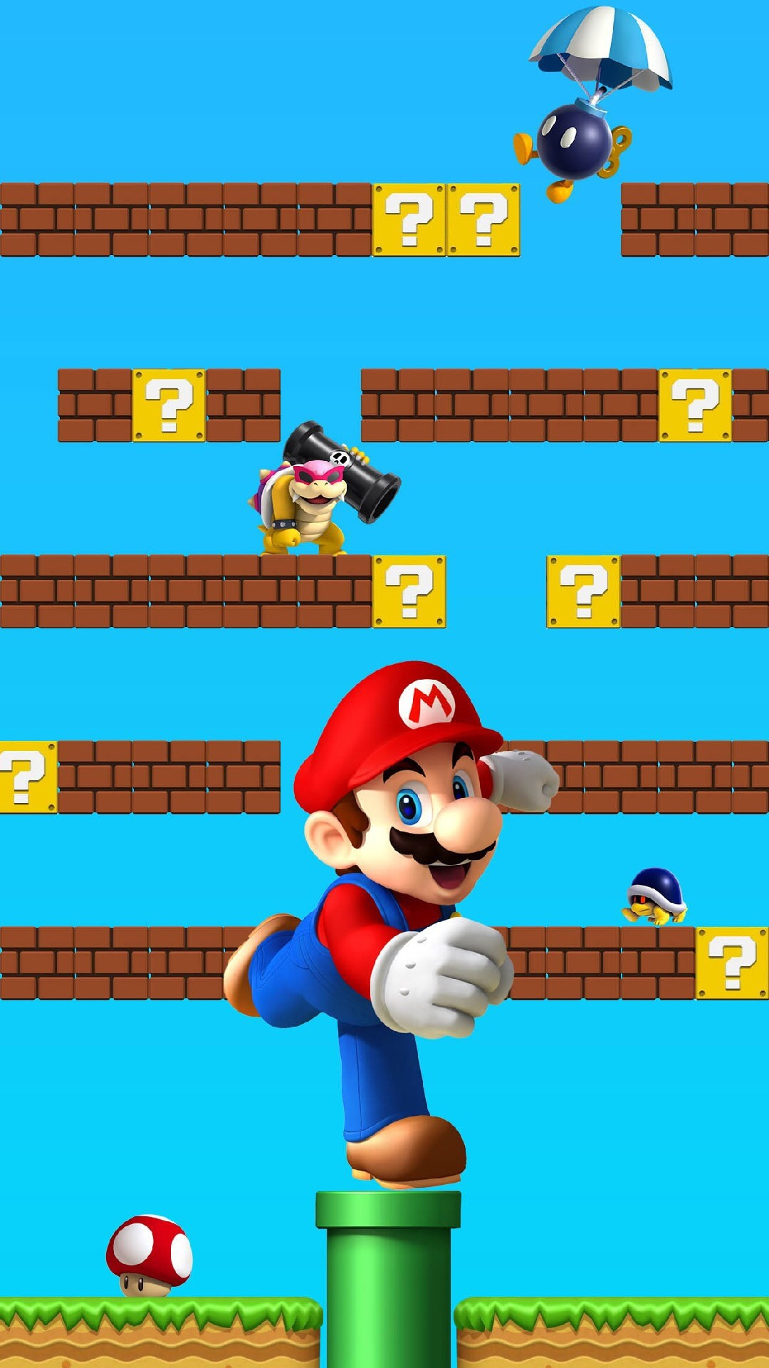 Shelves Super Mario Colorful Awesome Ð¡omputer Graphics. Wallpapers  AndroidCute WallpapersIphone …