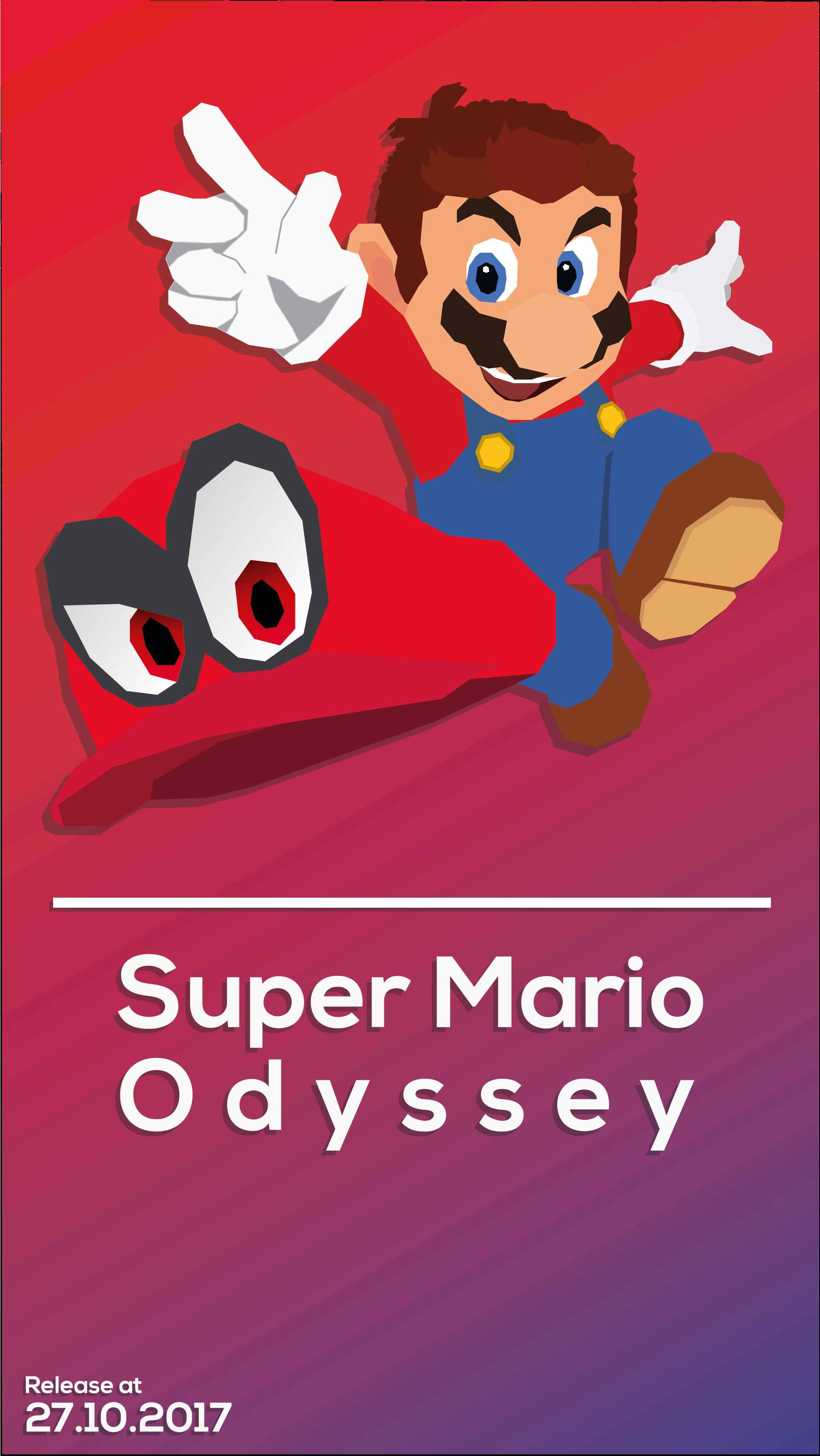 Super Mario Odyssey Phone Wallpaper