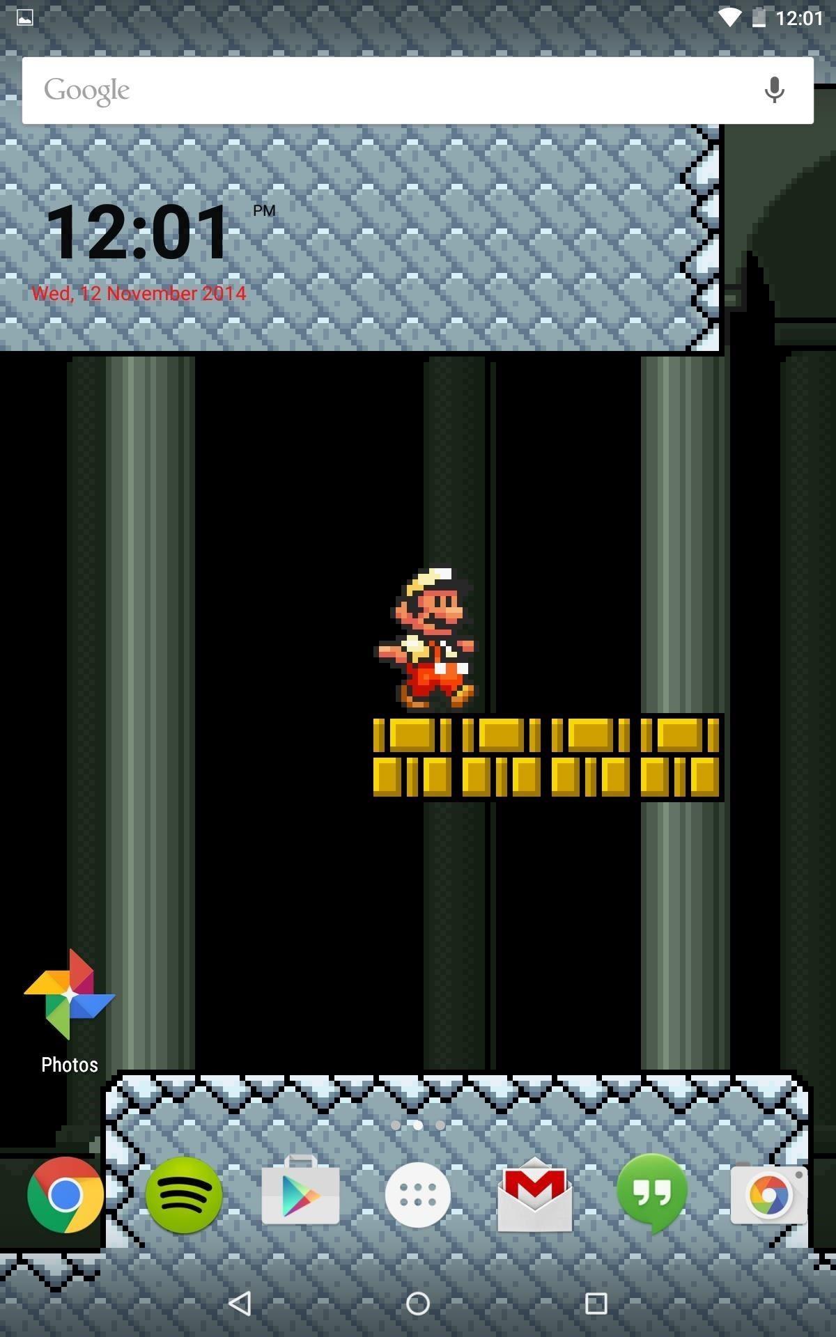 Step 5Set Mario Live Wallpaper