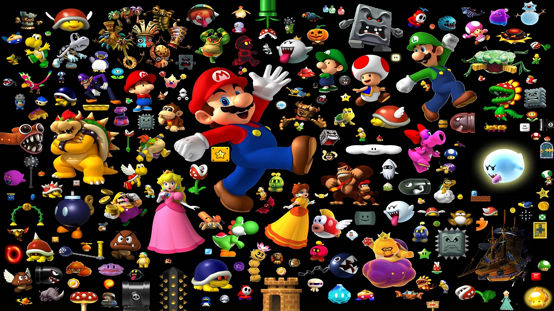 9 Super Mario All-Stars + Super Mario World HD Wallpapers | Backgrounds –  Wallpaper Abyss