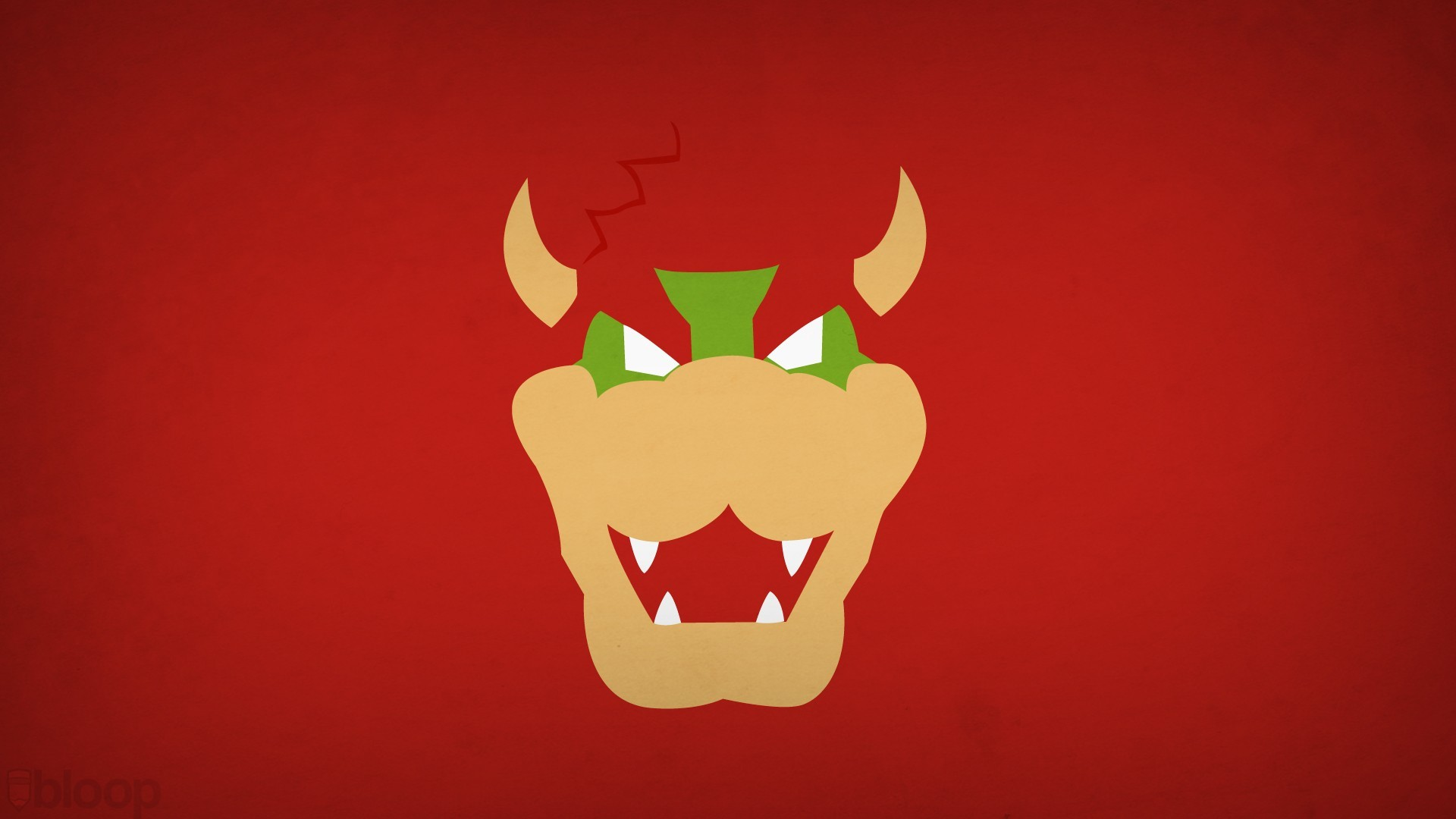 Blo0p Bowser Nintendo Red Background Super Mario Brothers