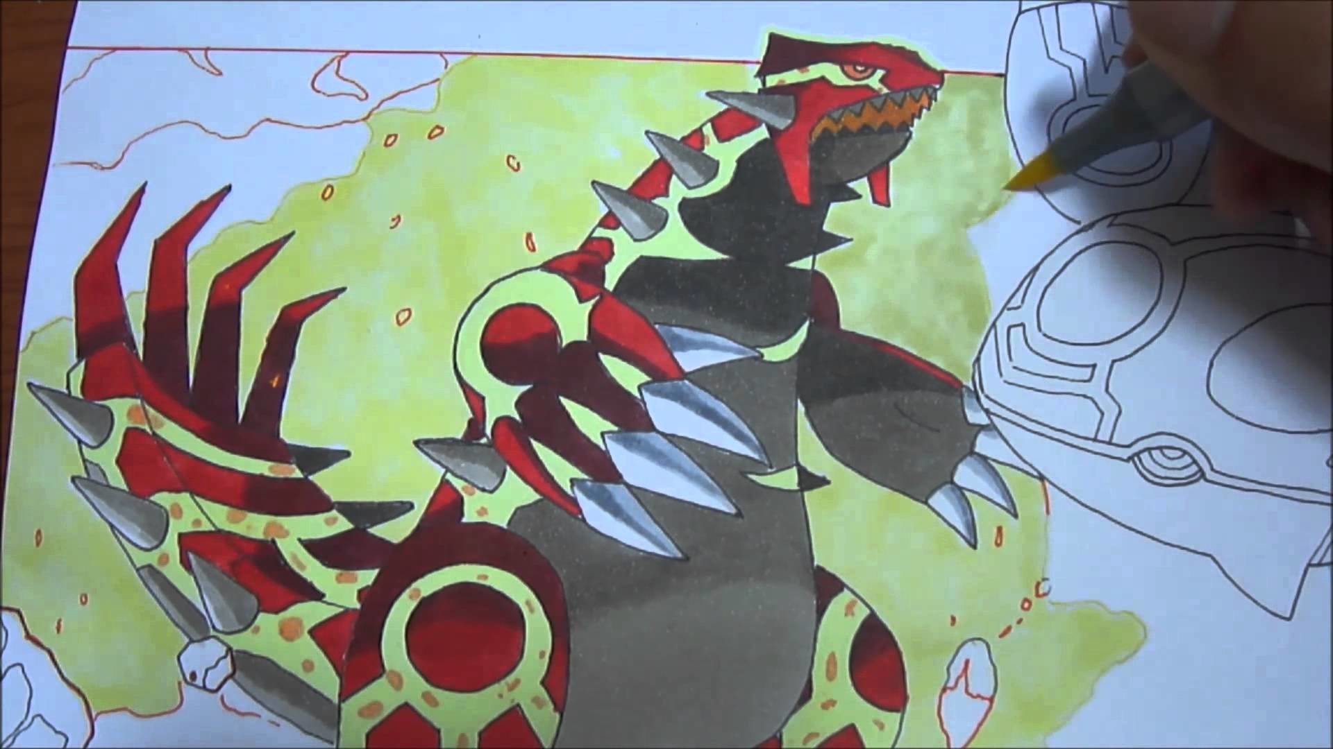 Copic speed draw Primal Groudon and Primal Kyogre ゲンシグラードン and ゲンシカイオーガ –  YouTube