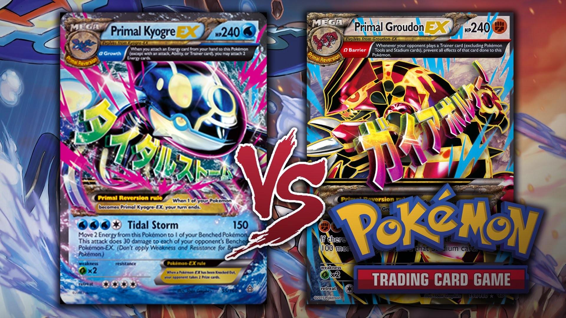 POKÉMON TRADING CARD GAME: Â¡KYOGRE PRIMIGENIO VS GROUDON PRIMIGENIO!  (TCG/JCC). – YouTube