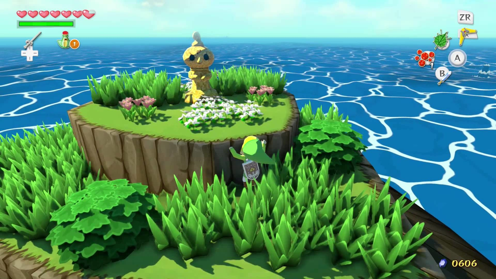 wind waker hd – Leaves with simple detail with only 3 shades of green and  same