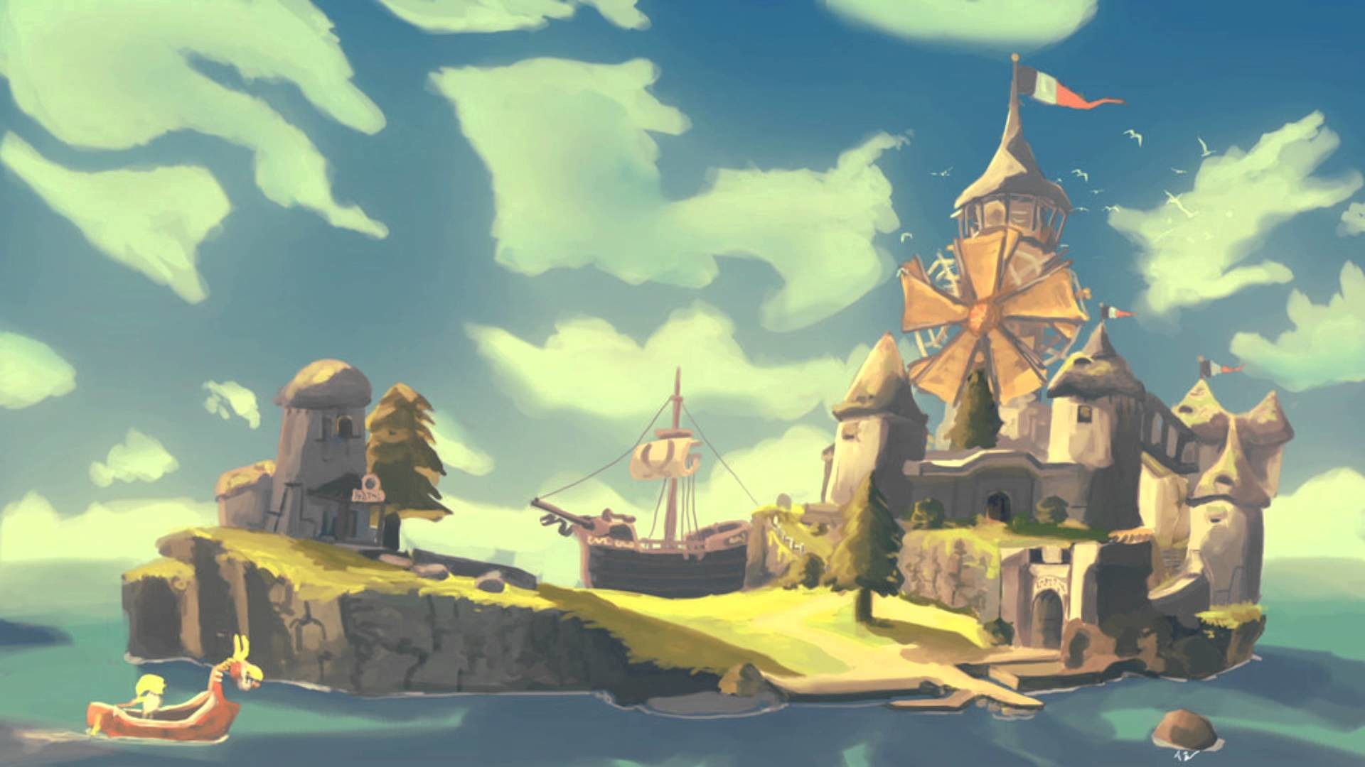 The Legend of Zelda: The Wind Waker Covers – Windfall Island