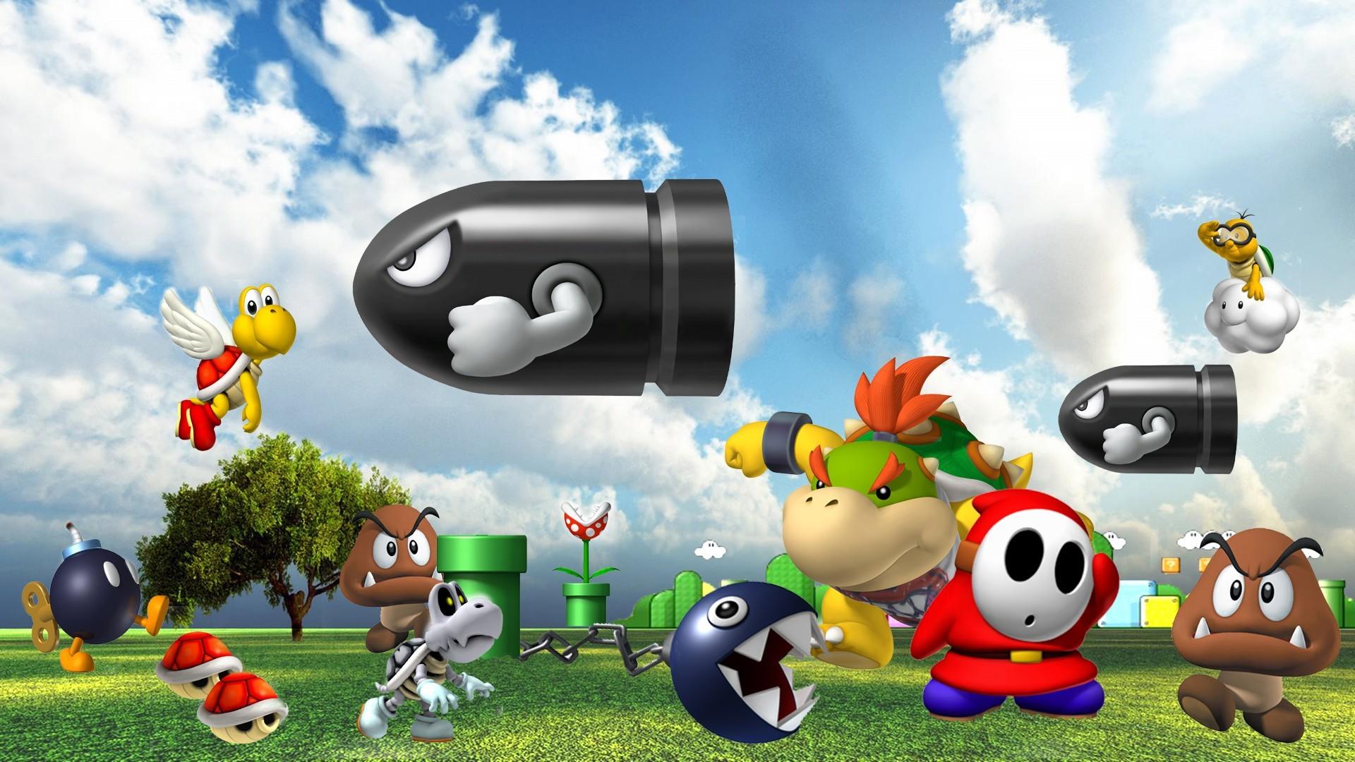 Video Game – Super Mario 64 Bullet Bill Chain Chomp Koopa Troopa Shy Guy  Piranha Plant