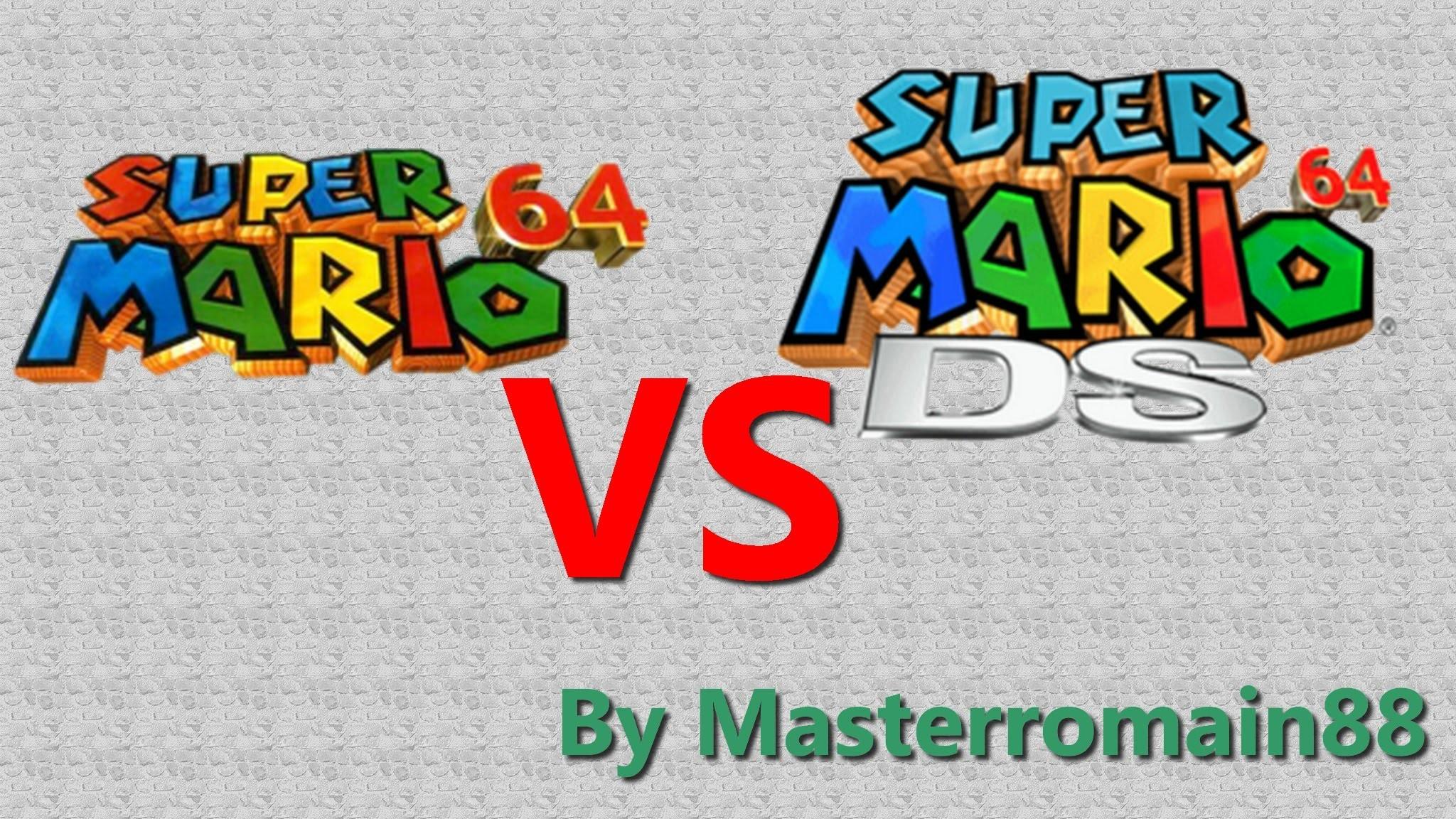 Supermario64 DS VS Super mario 64 N64