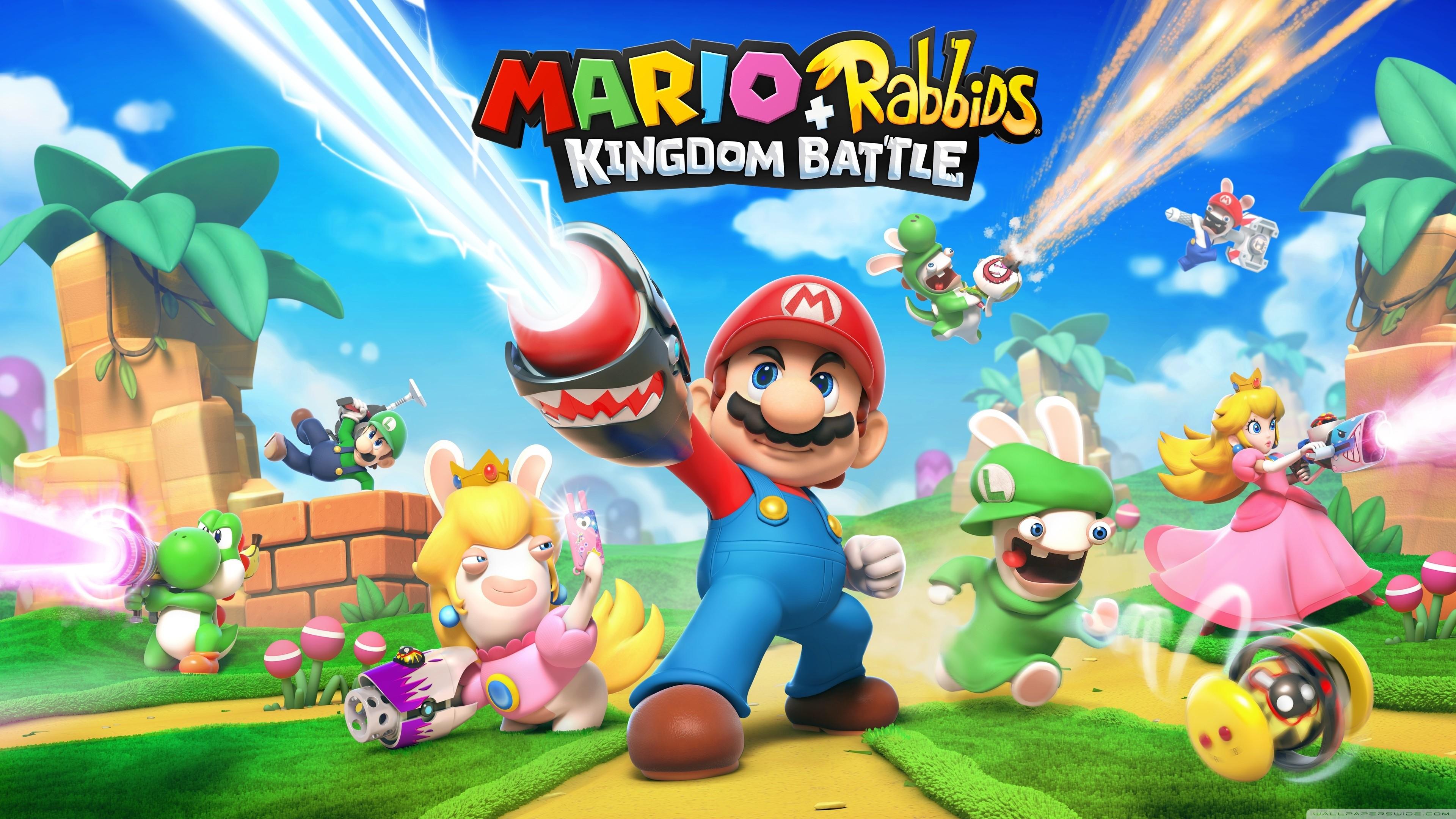 Mario Rabbids Kingdom Battle 2017 game HD Wide Wallpaper for Widescreen