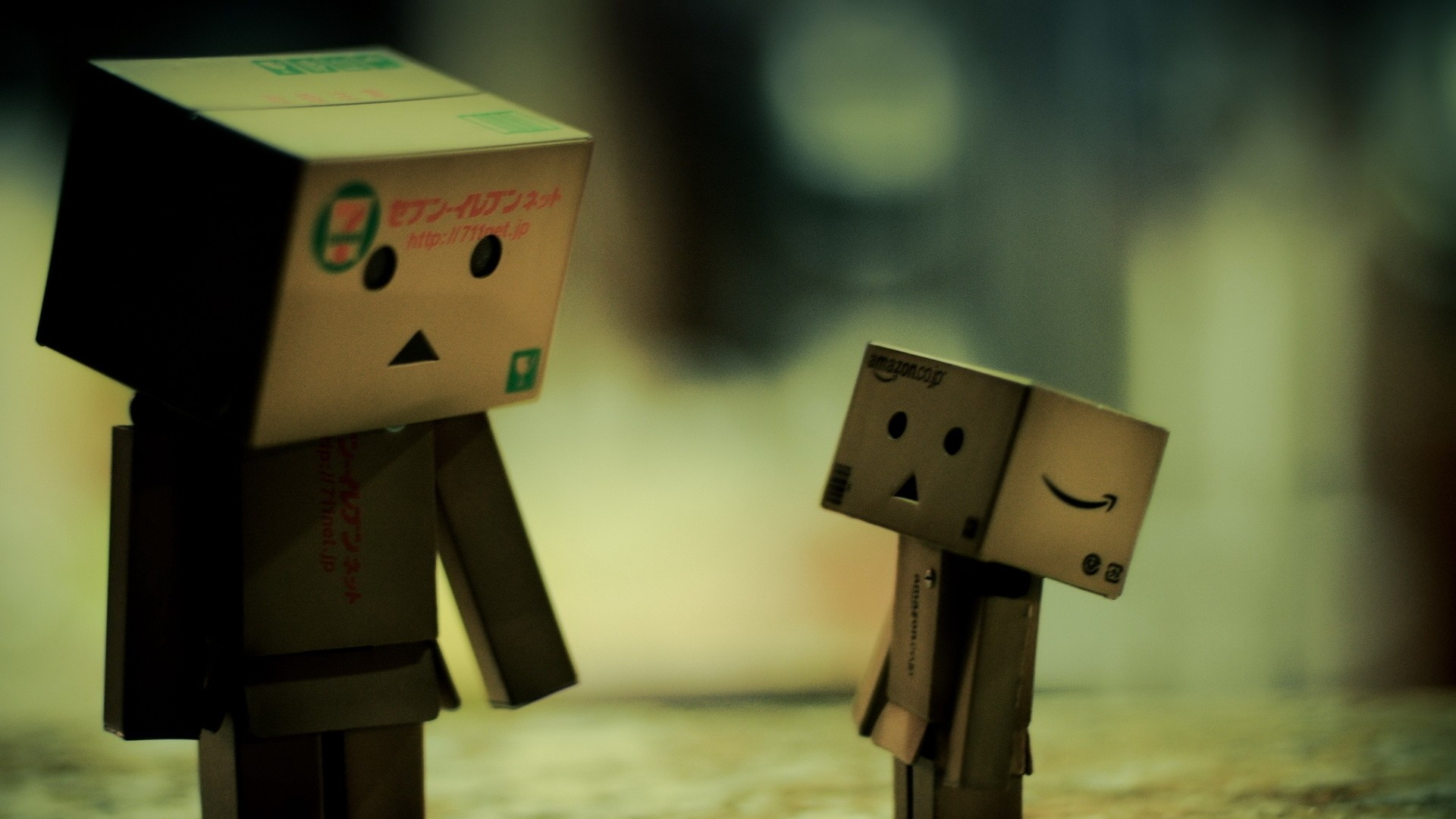 Wallpaper danboard, boxes, robots, steam, reflections,  communication, shadows of