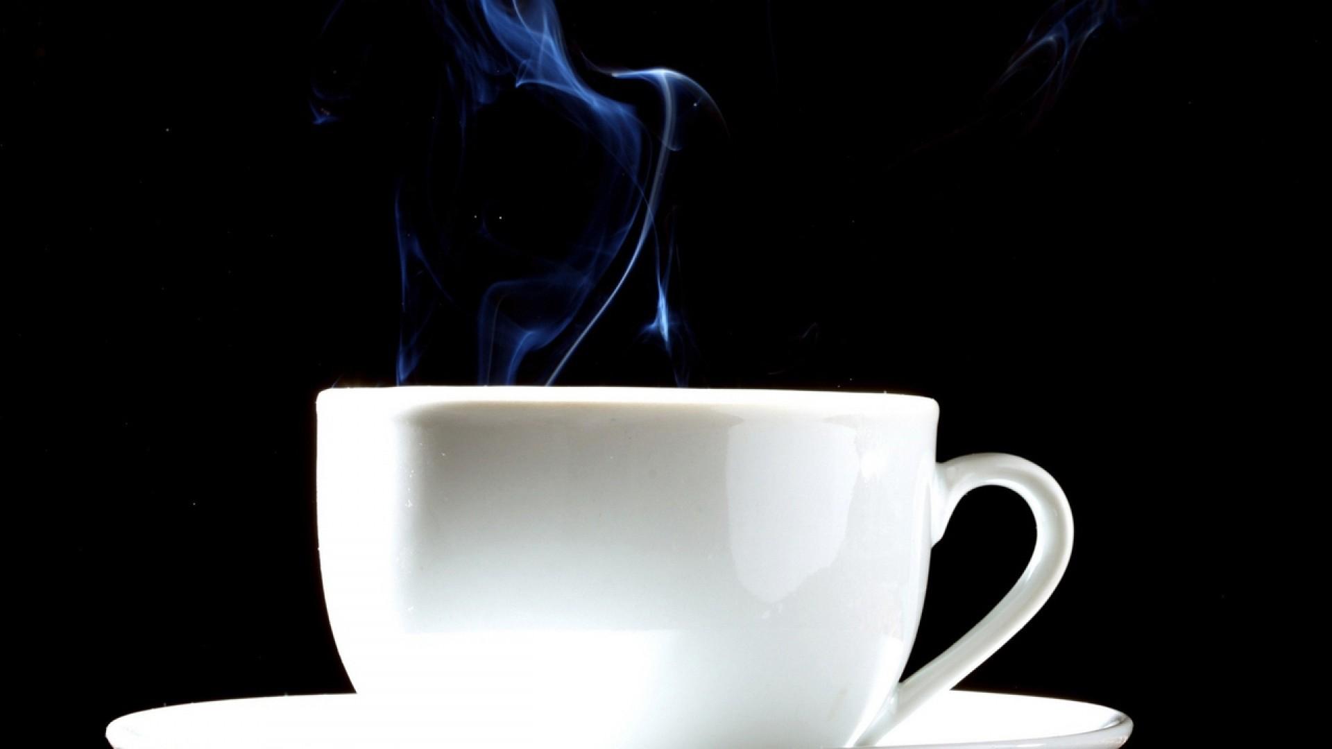 Wallpaper coffee, cup, steam, coffee beans
