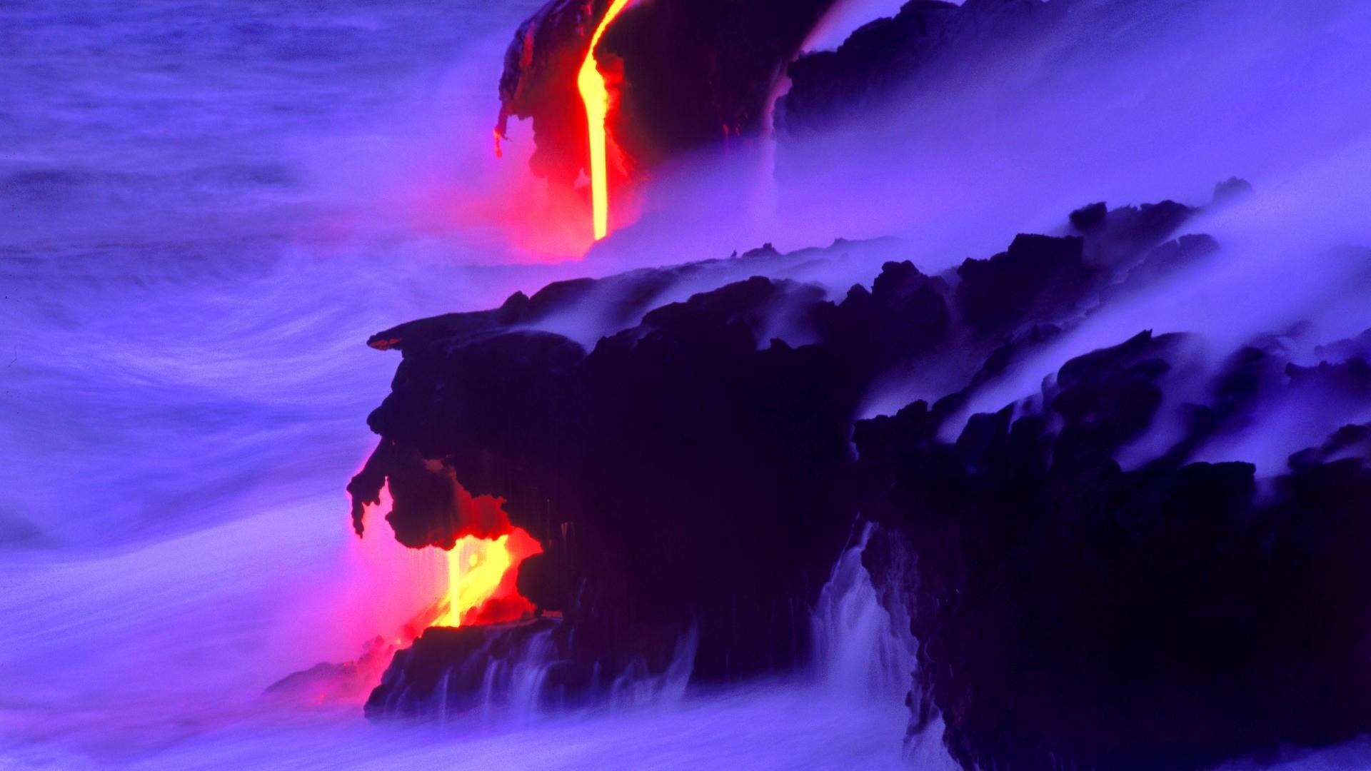 Ocean shore coast lava steam wallpaper     30210   WallpaperUP