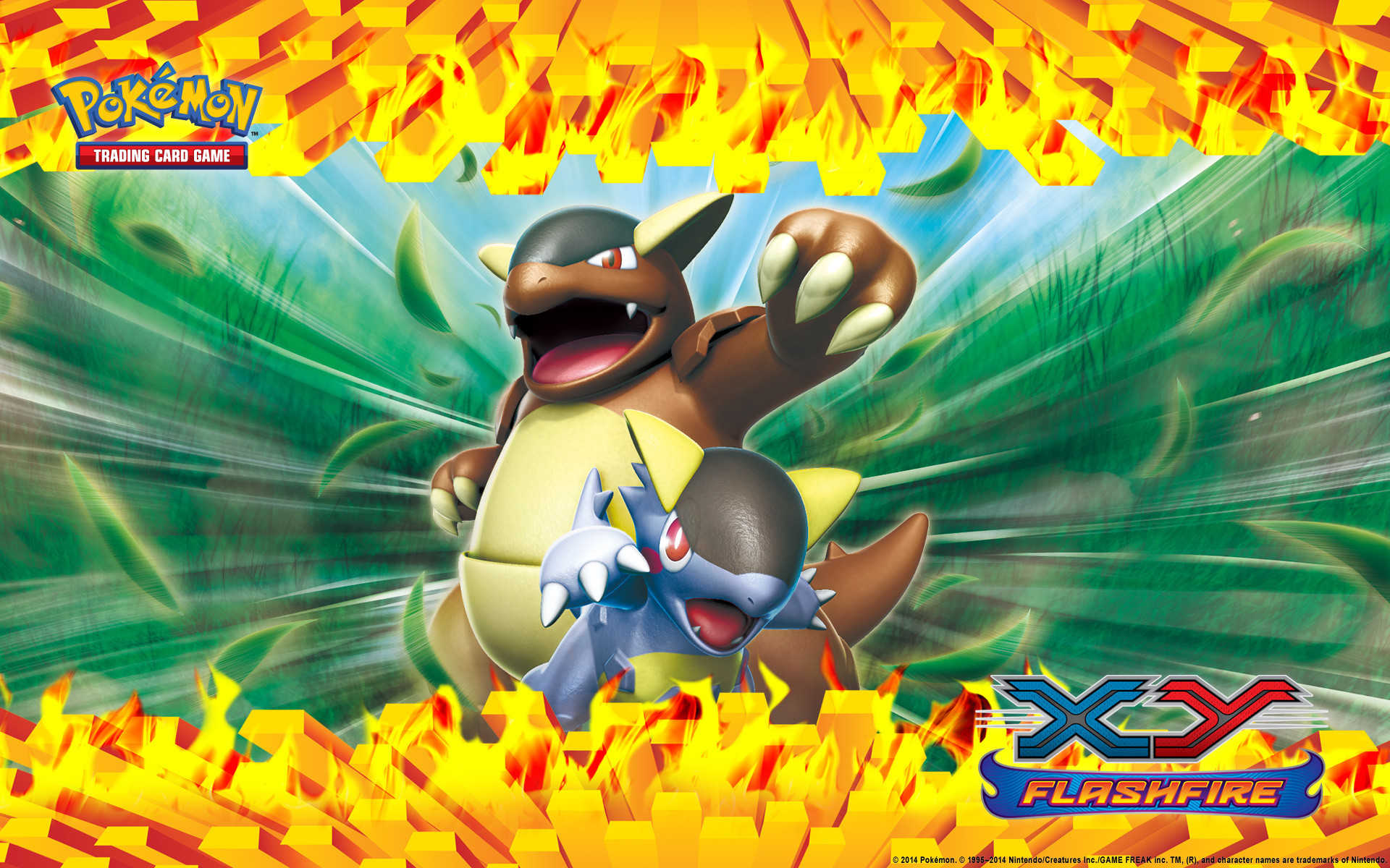 Pokémon TCG: XY—Flashfire Kangaskhan Wallpaper
