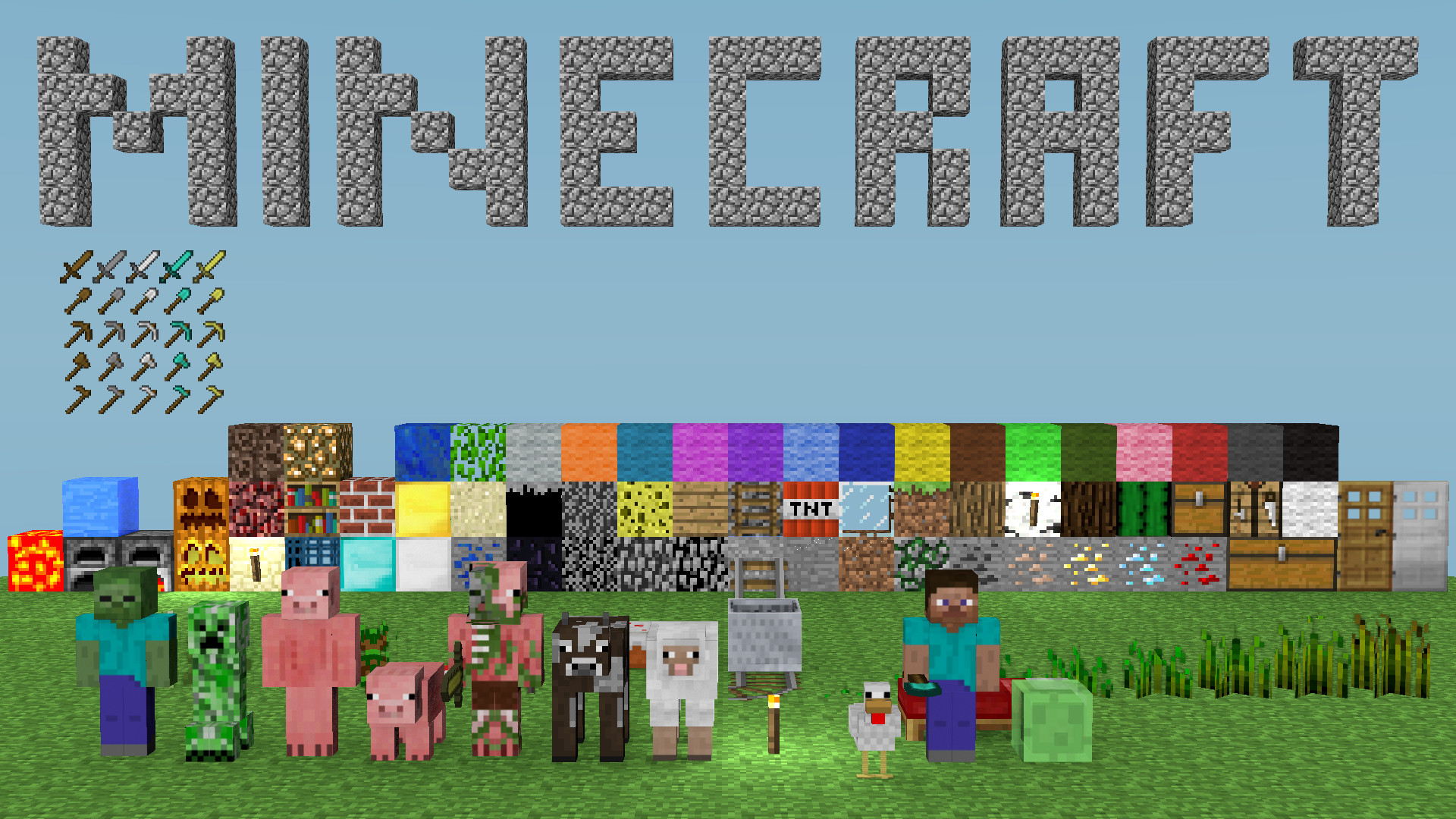 Widescreen Wallpapers: Minecraft, (1920×1080, V.726) – QG.87