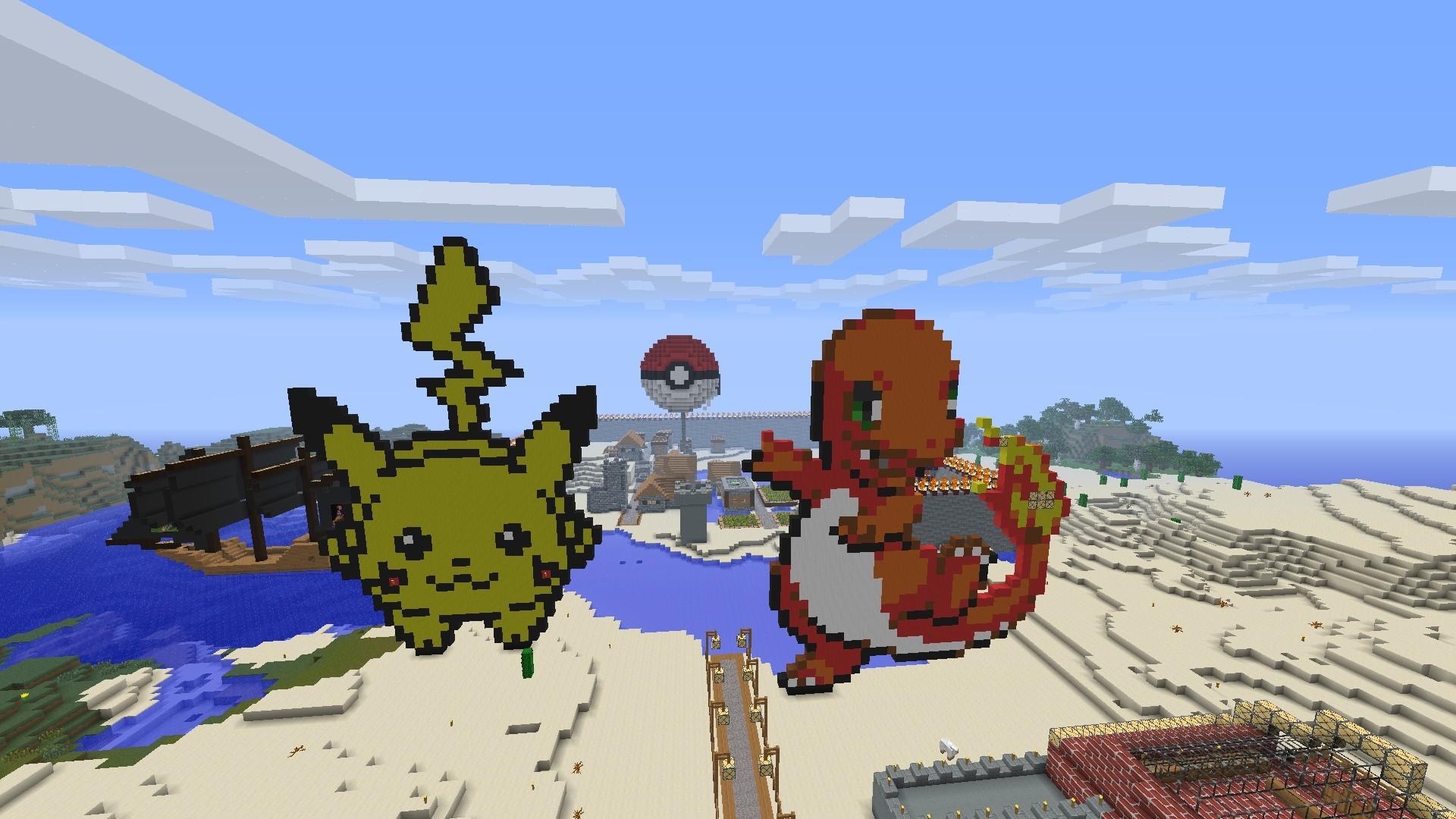 Minecraft Pokemon Art HD Wallpaper