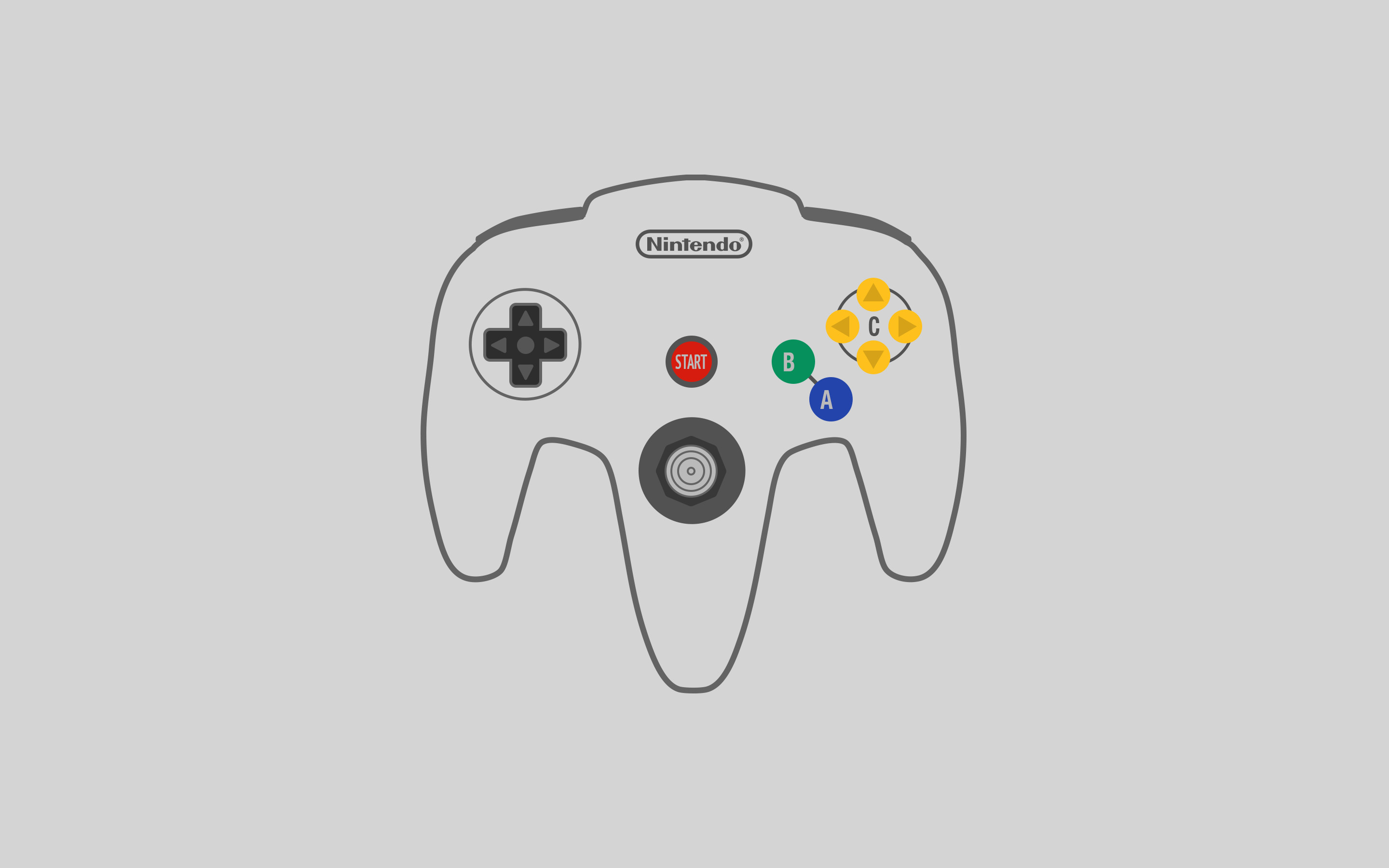 Download full-size – N64 controller.