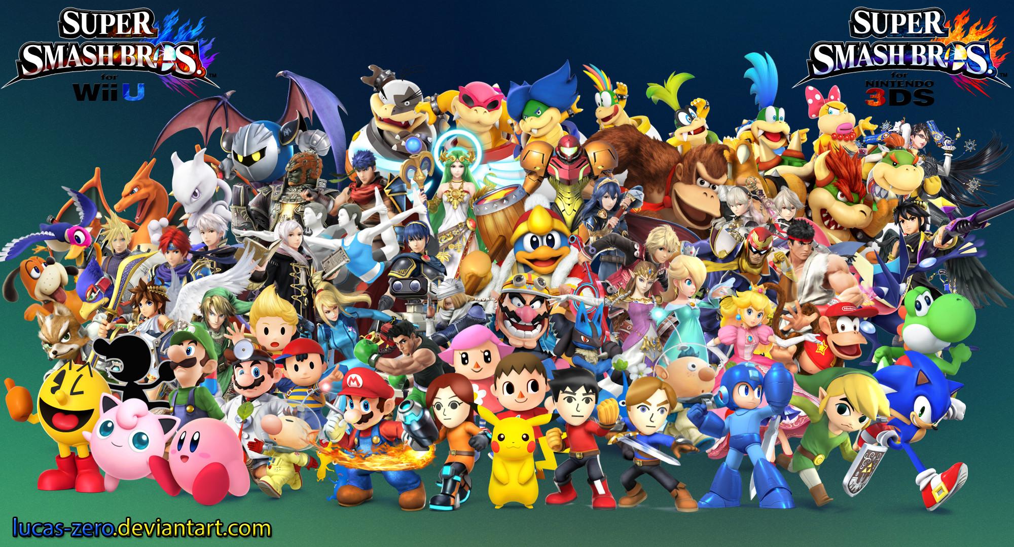 … Super Smash Bros 4 Wallpaper by Lucas-Zero