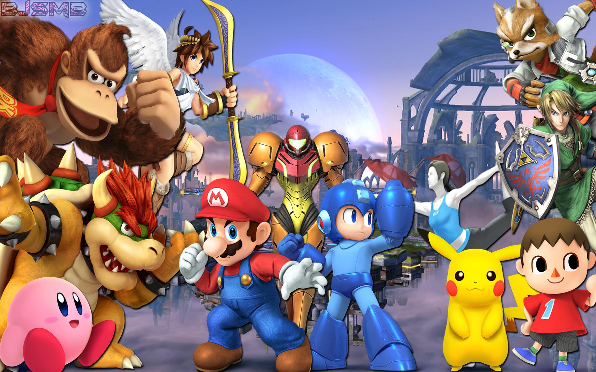 … Super Smash Bros 4: Confirmed Characters Wallpaper by BowserJrSMB
