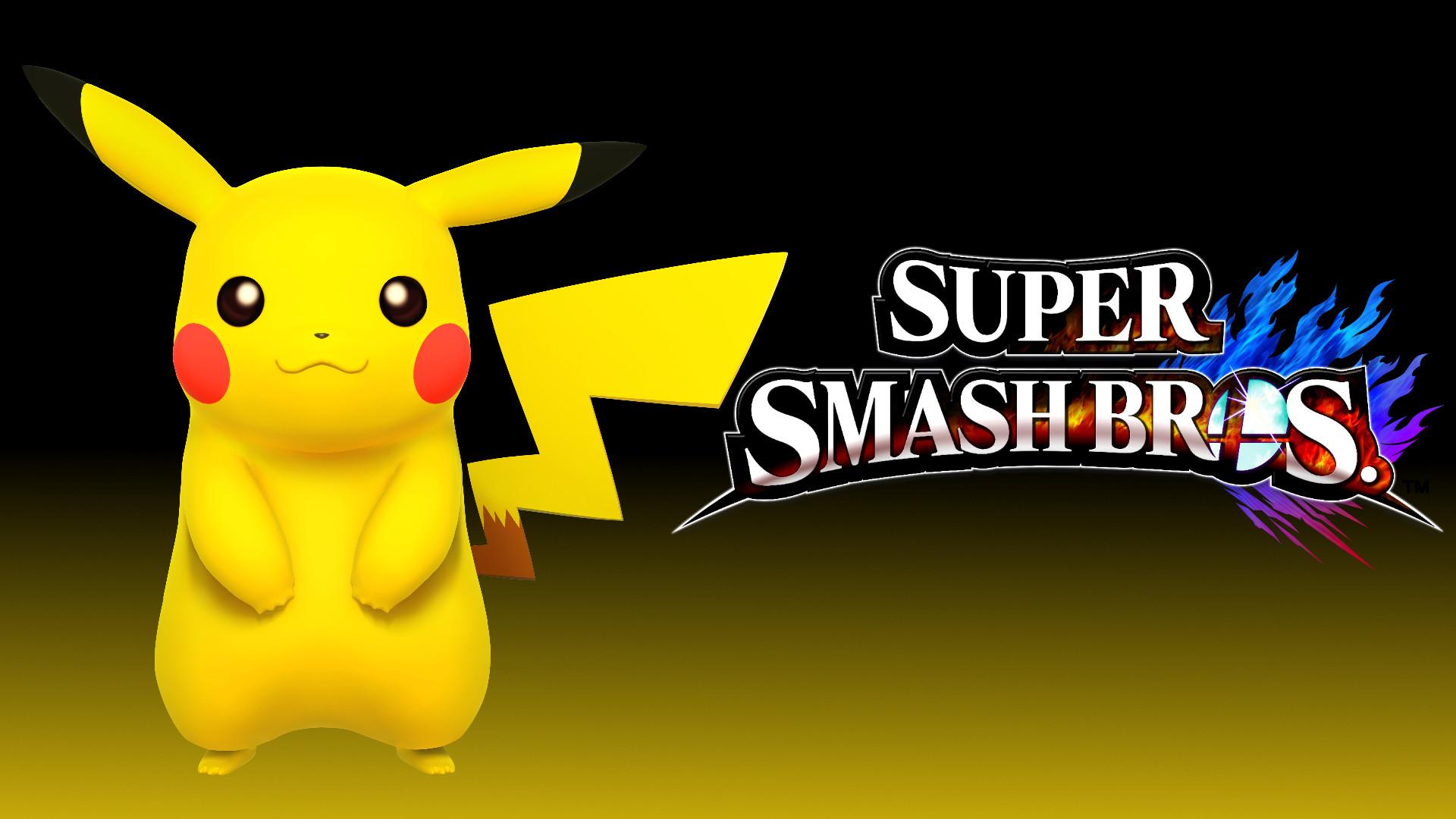 4 Wallpaper – Pikachu by TheWolfGalaxy Super Smash Bros. 4 Wallpaper –  Pikachu by TheWolfGalaxy