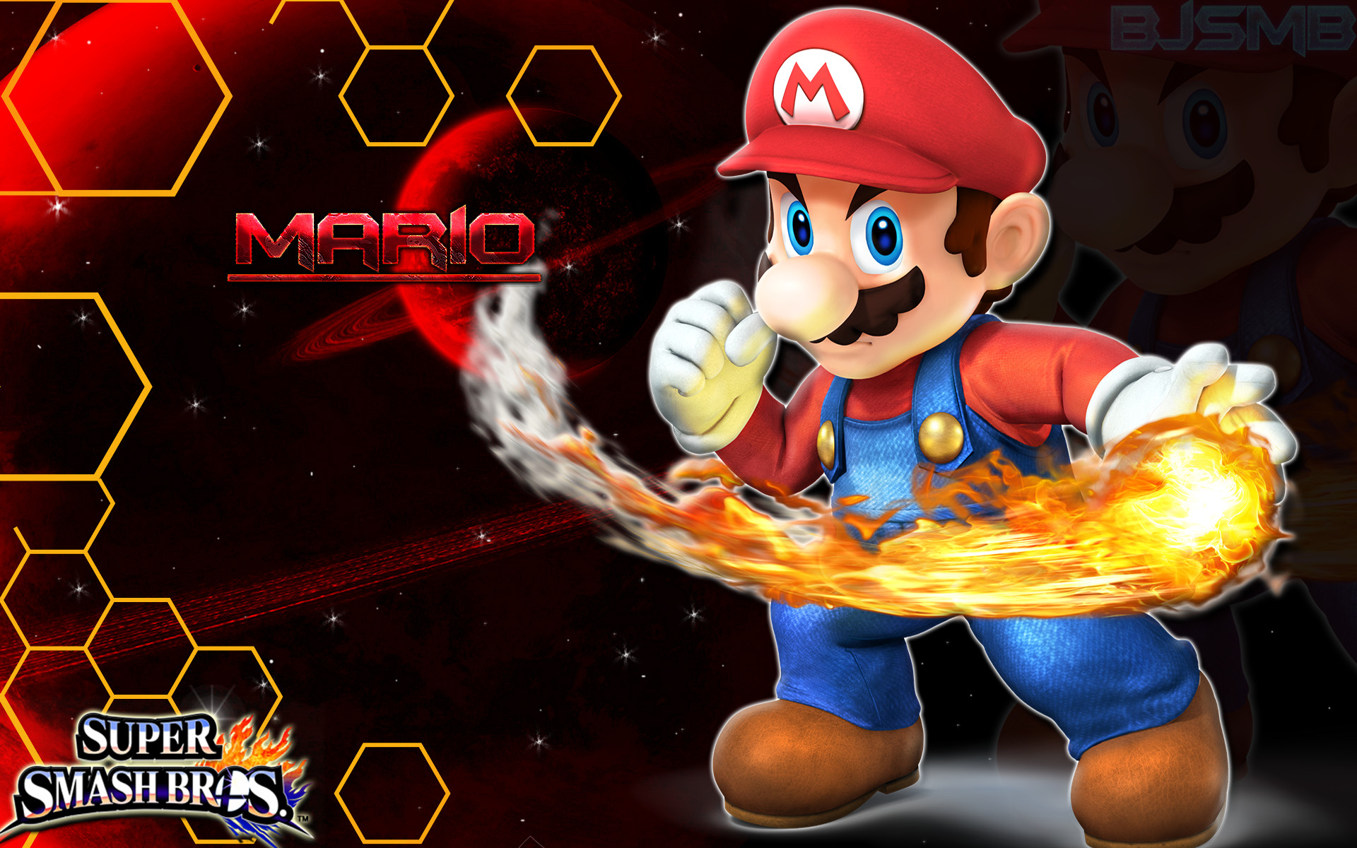 4 Wallpaper/Background by BowserJrSMB Mario – Super Smash Bros. 4 Wallpaper/Background  by BowserJrSMB