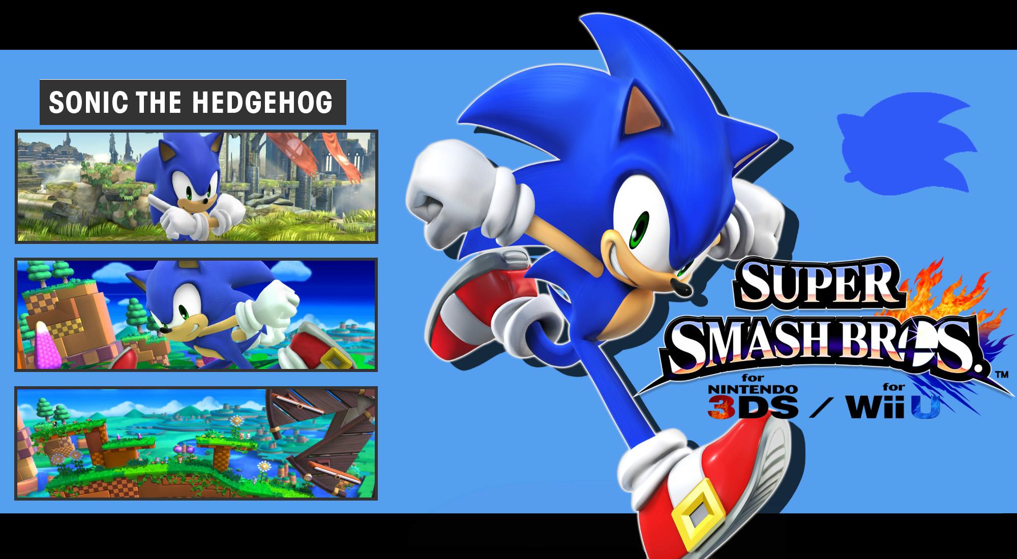 … DaKidGaming Super Smash Bros. 3DS/Wii U – Sonic Wallpaper by DaKidGaming