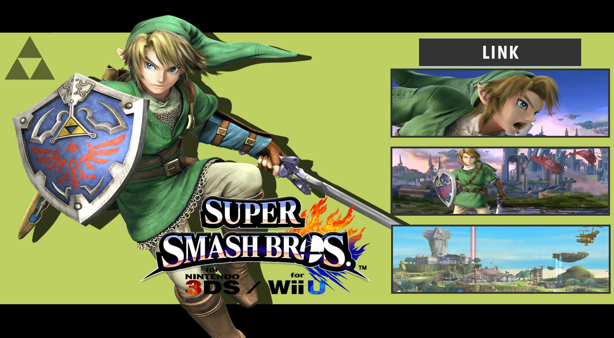 … DaKidGaming Super Smash Bros. 3DS/Wii U – Link Wallpaper by DaKidGaming