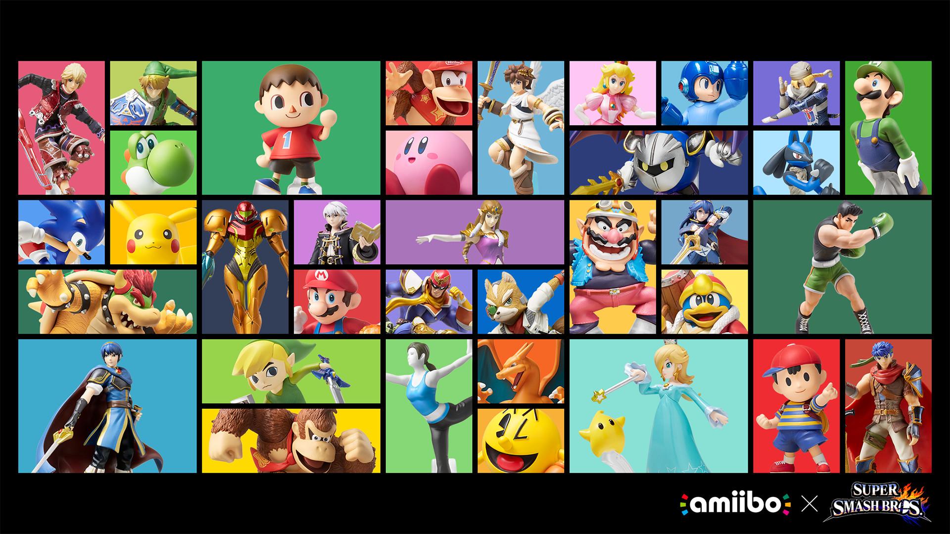 Super Smash Bros. x amiibo wallpaper
