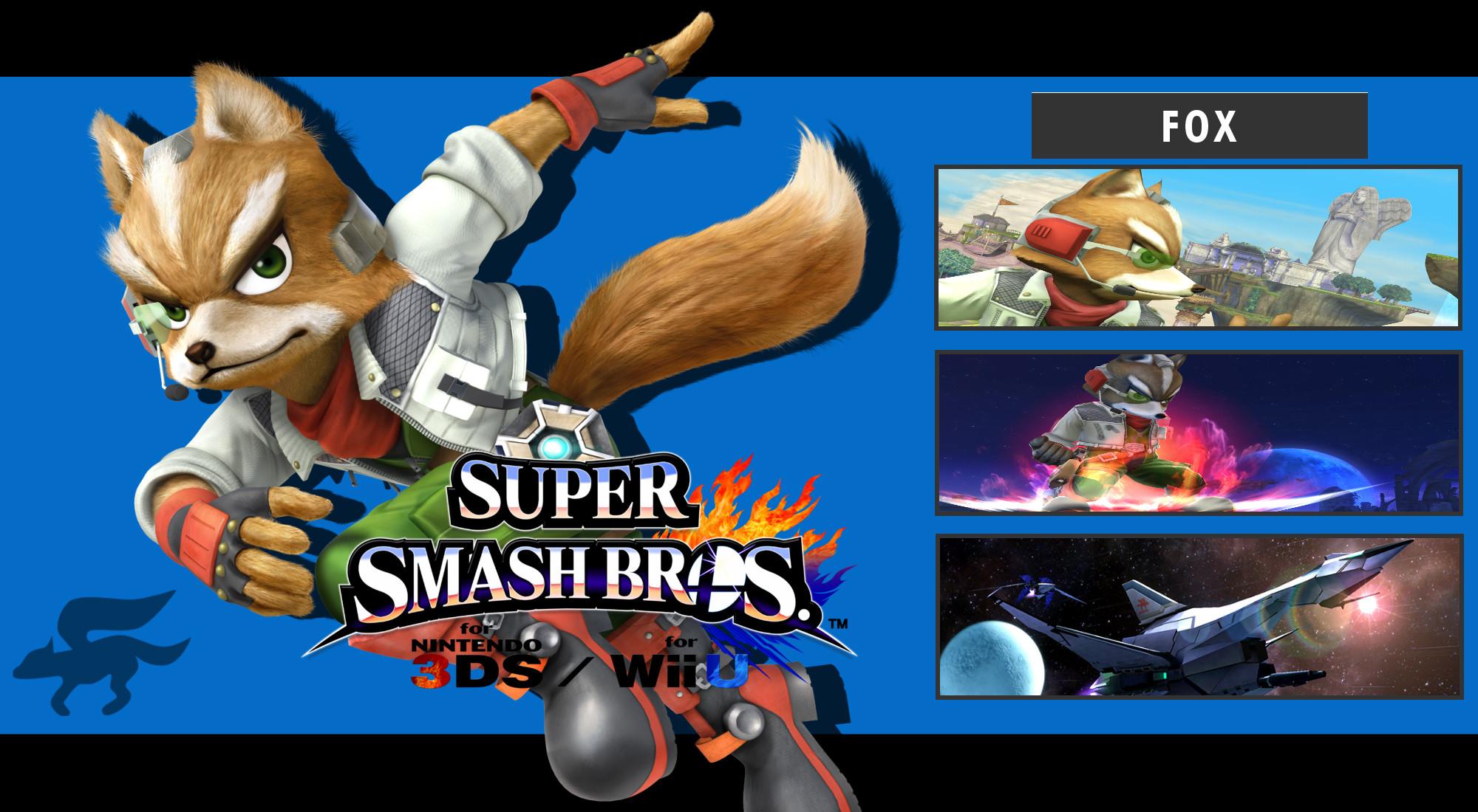 Super Smash Bros. 3DS/Wii U – Fox Wallpaper by DaKidGaming .