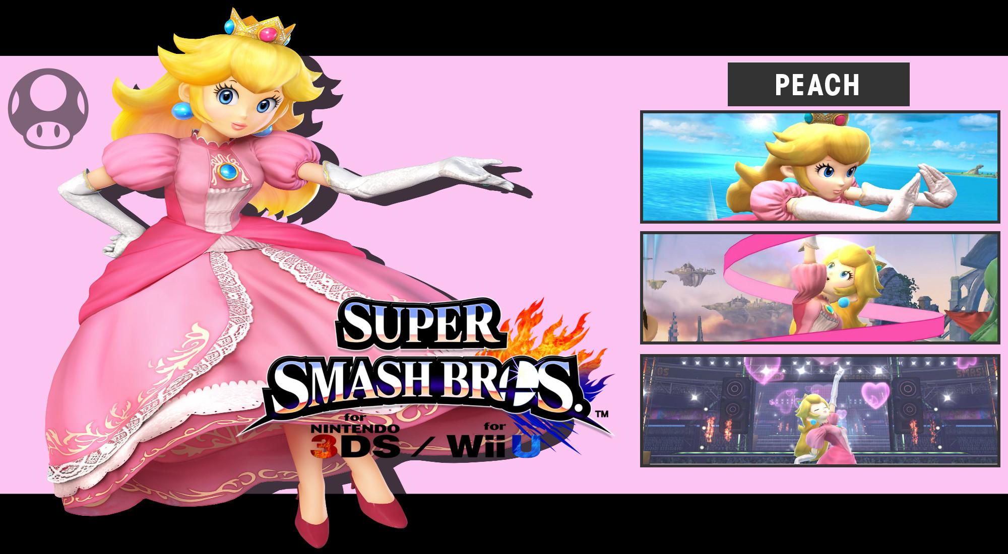 … DaKidGaming Super Smash Bros. 3DS/Wii U – Peach Wallpaper by DaKidGaming