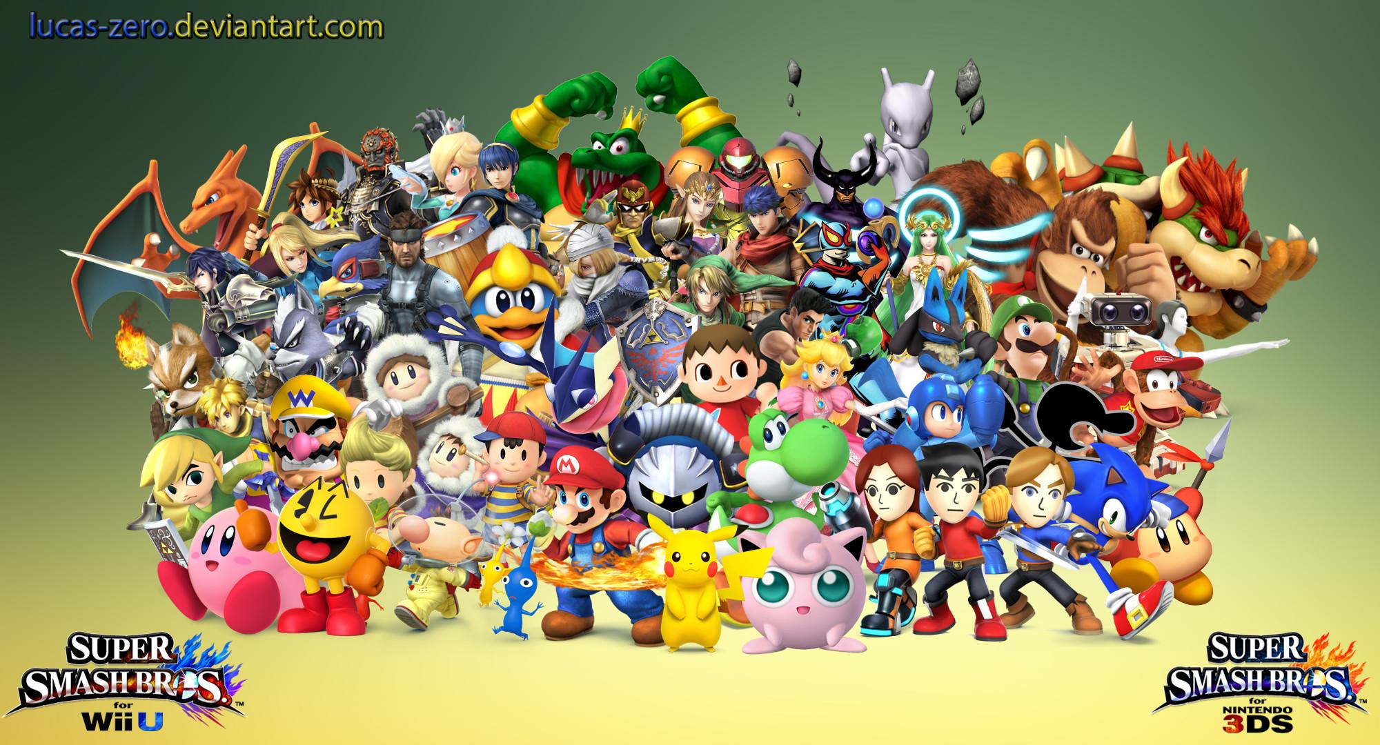 … Super Smash Bros 4 Dream Roster Wallpaper by Lucas-Zero