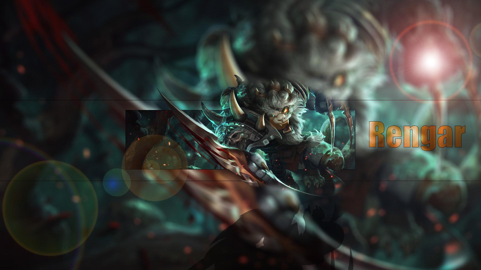 Rengar by Icehans HD Wallpaper Fan Artwork League of Legends lol
