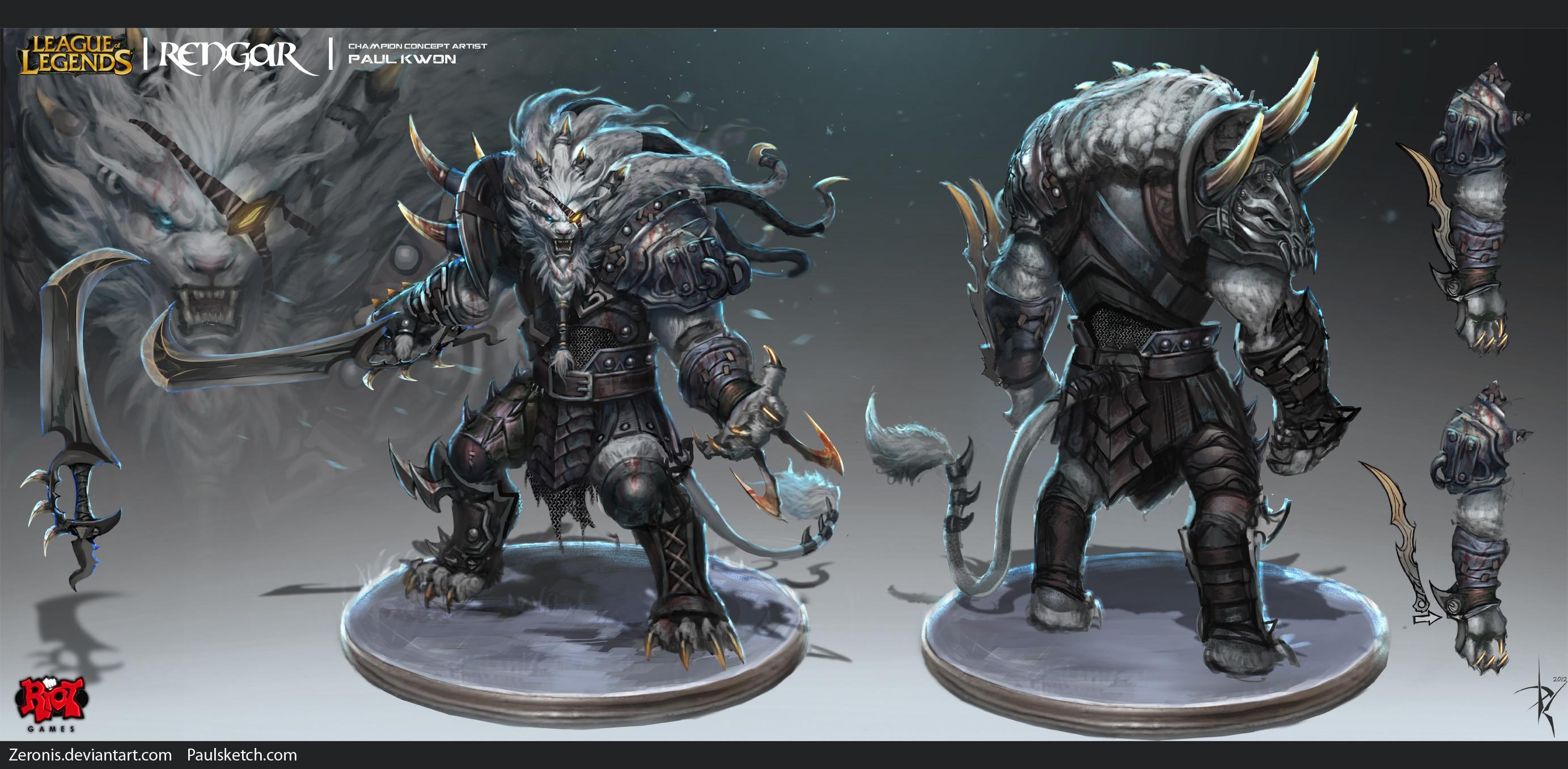 Rengar Concept by Zeronis League of Legends Artwork Wallpaper lol