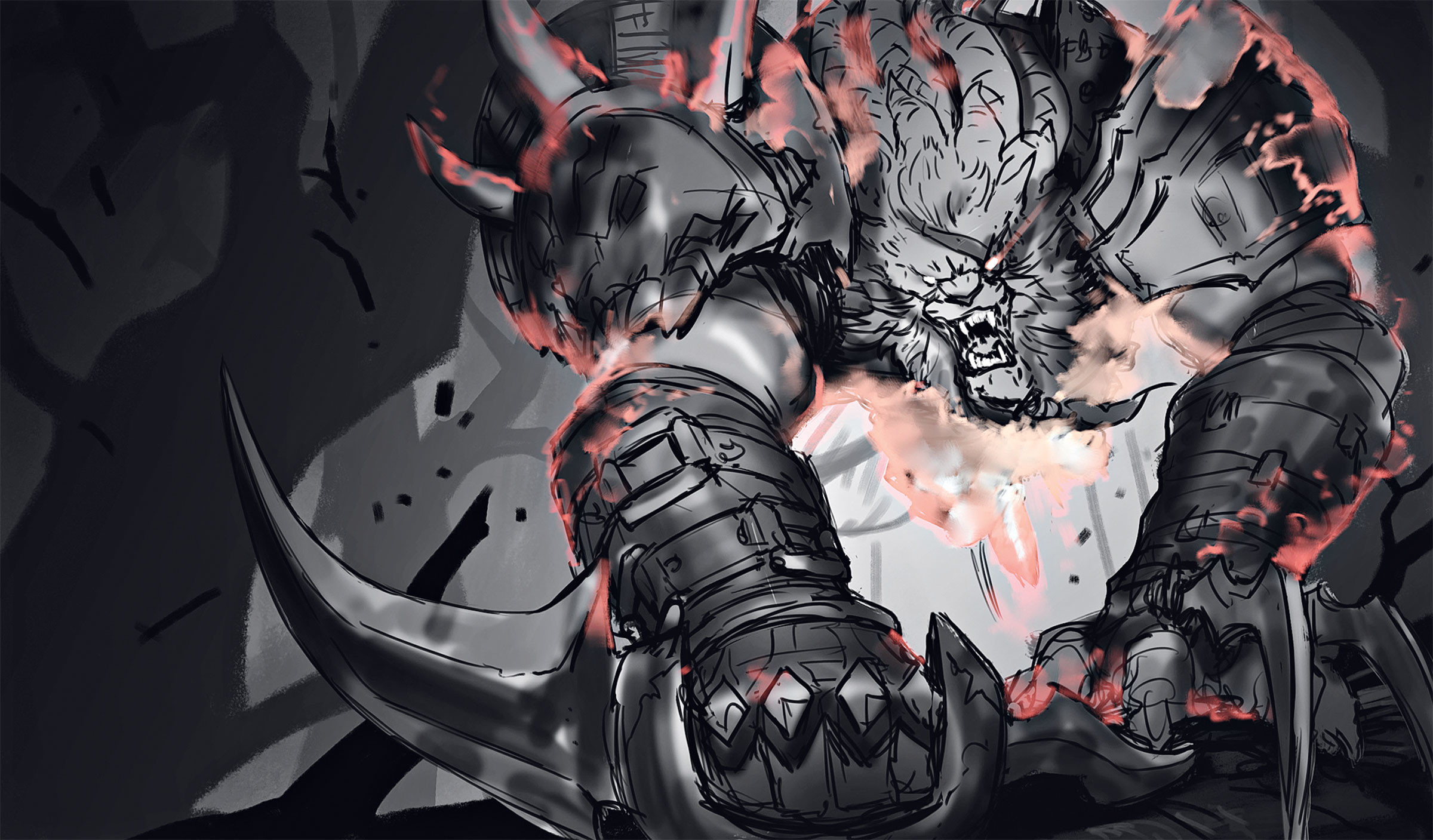Rengar Splash Art Process (3) League of Legends Artwork Wallpaper lol