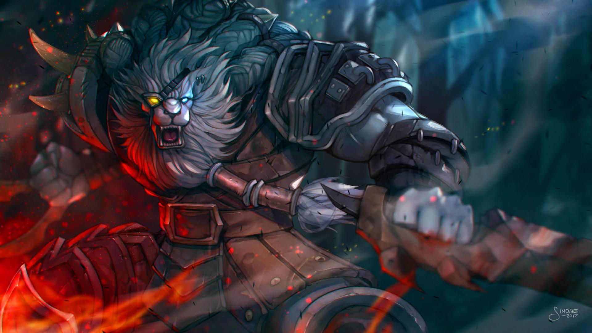 Rengar by simoneferriero HD Wallpaper Background Fan Art Artwork League of  Legends lol