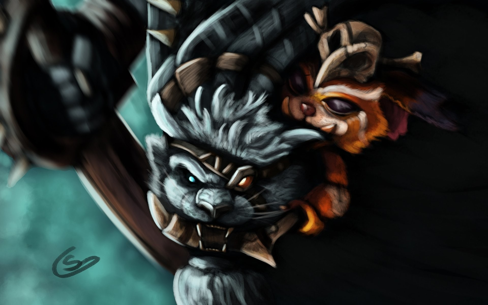 Video Game – League Of Legends Rengar (League Of Legends) Gnar (League Of
