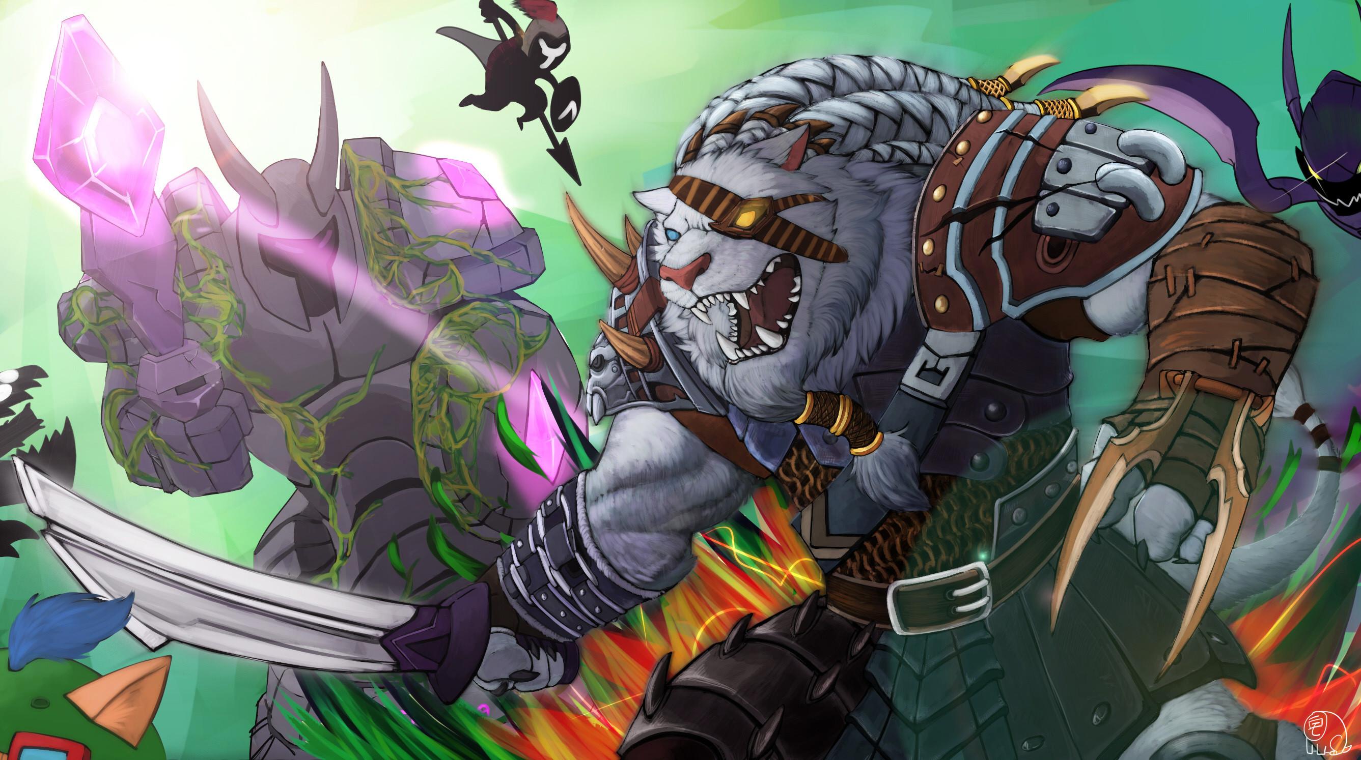 Rengar by 廚宅 HD Wallpaper Fan Artwork League of Legends lol