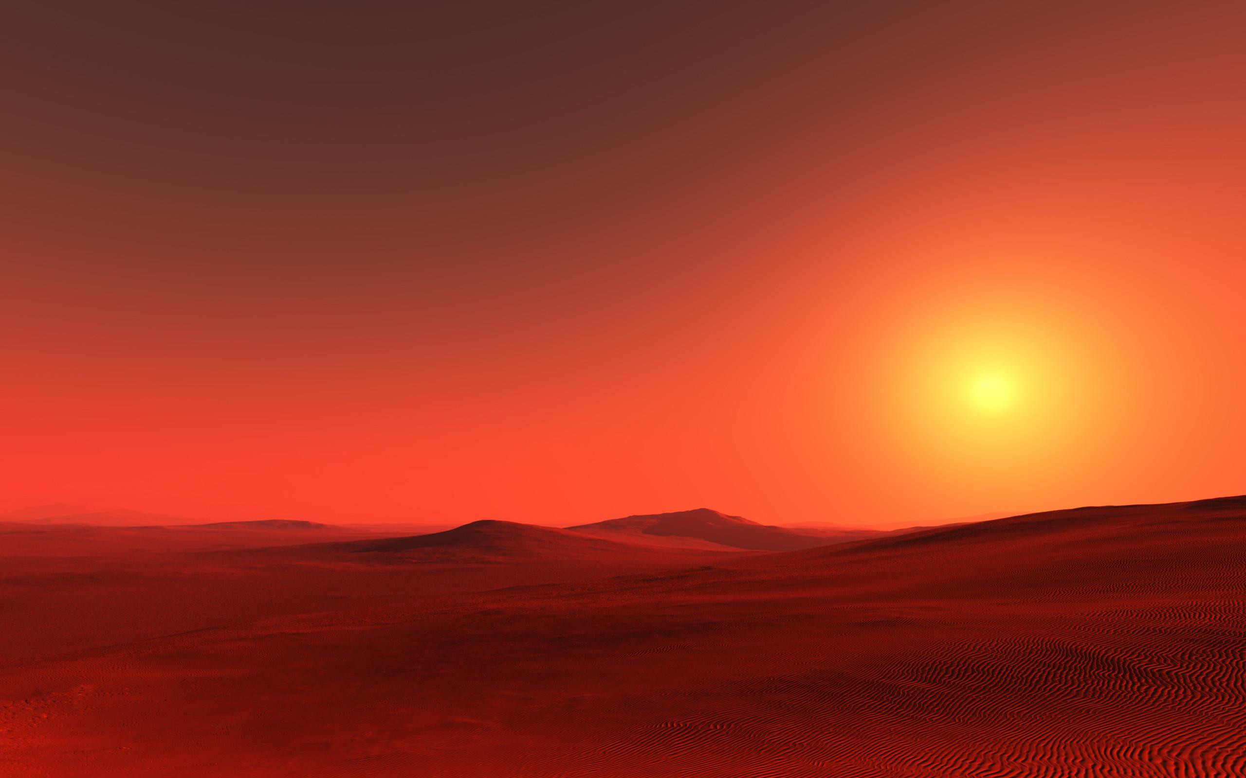 Red desert on Dune.