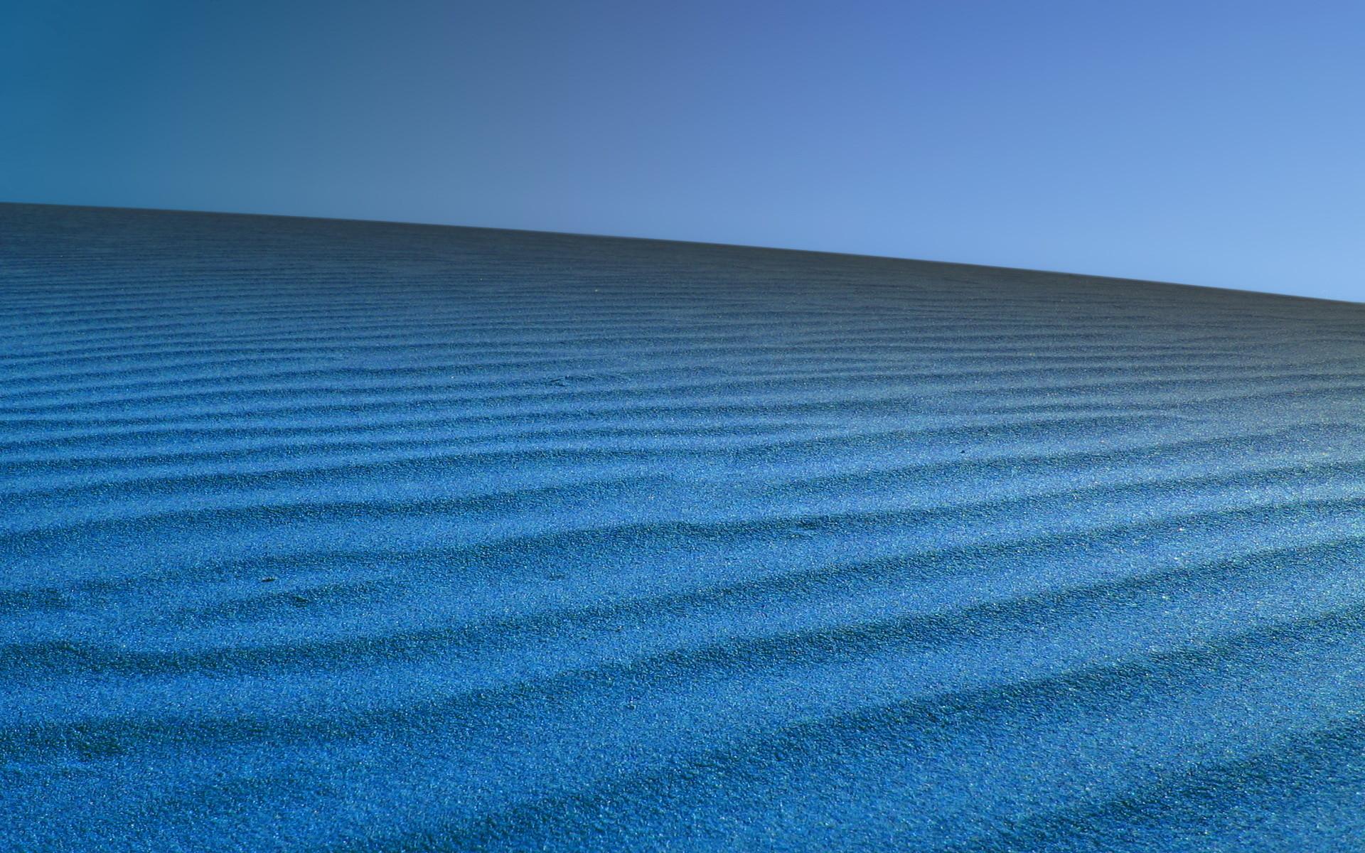 Blue desert on Dune.