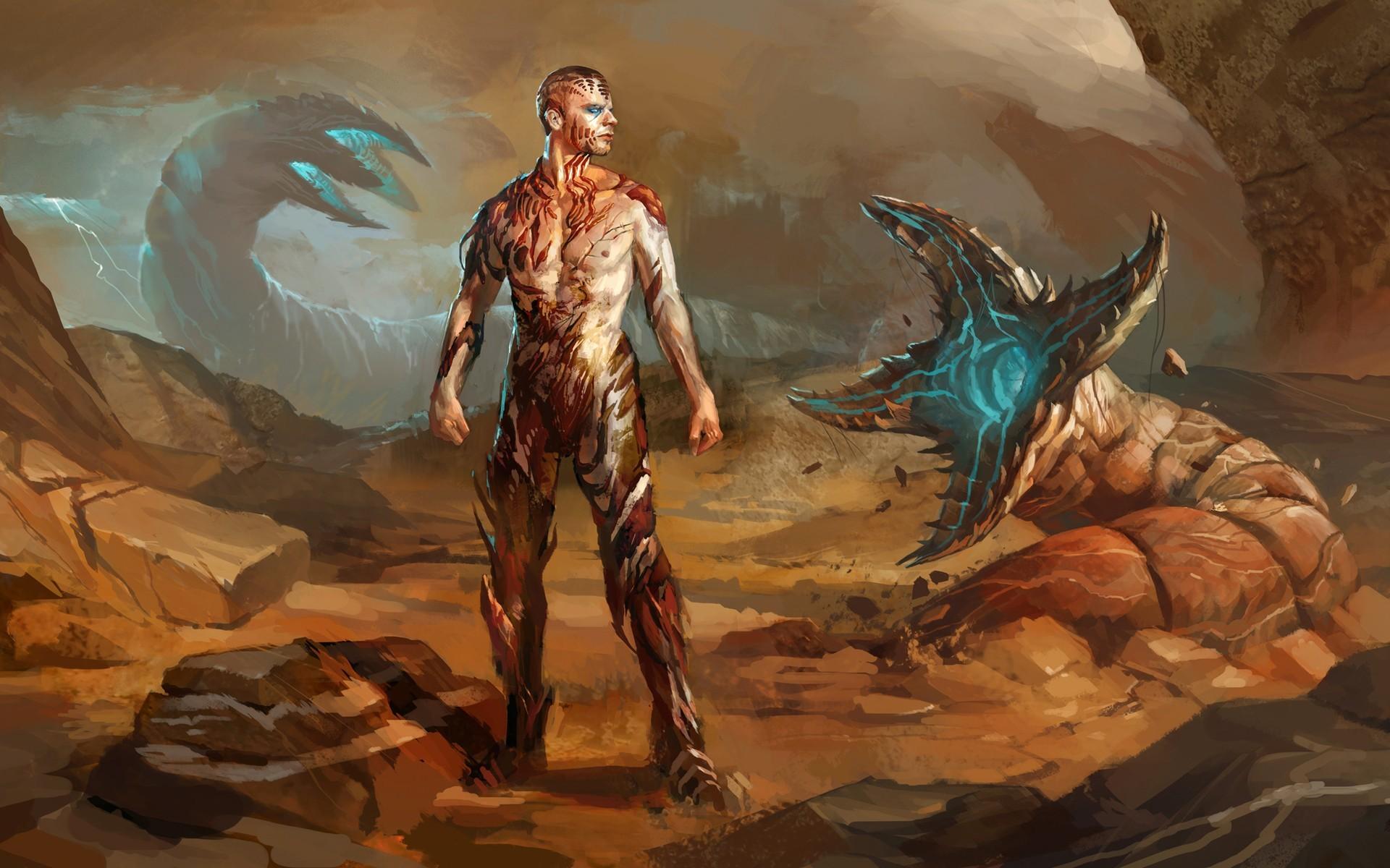 Sci Fi – People Monster Creature Landscape Wallpaper