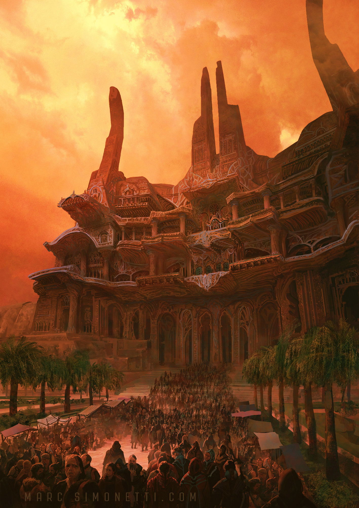 """""""The temple of Alia"""" Interior illustration for """"Dune Messiah"""" by Frank  Herbert for Centipede Press. """""""