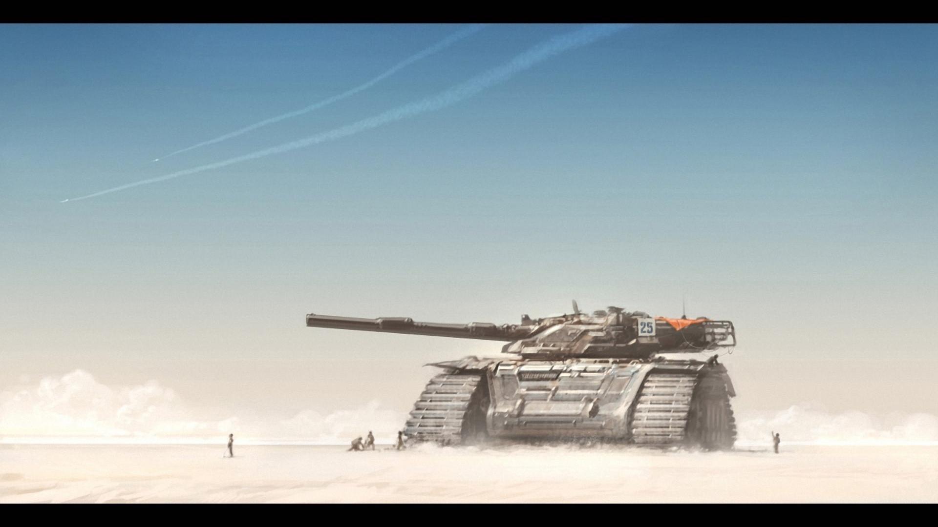 Dune deserts fantasy art science fiction tanks wallpaper