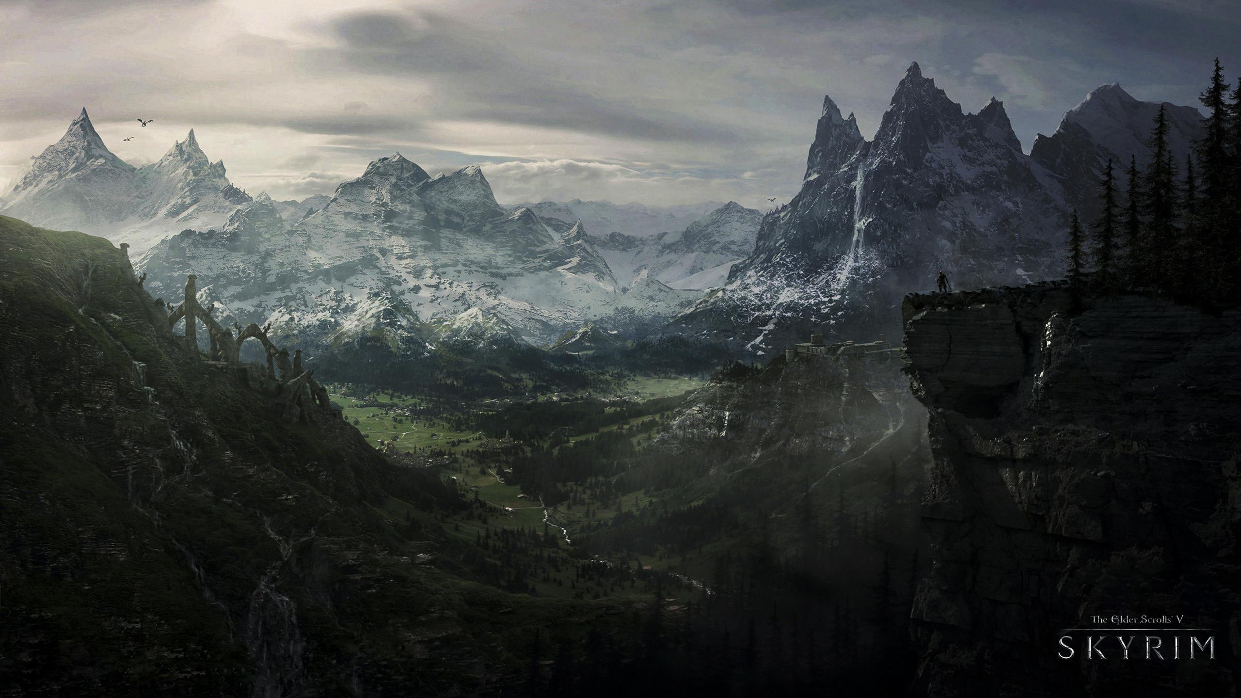 The Elder Scrolls V Skyrim HD Wallpapers Backgrounds   HD Wallpapers    Pinterest   Skyrim, Wallpaper and Wallpaper backgrounds