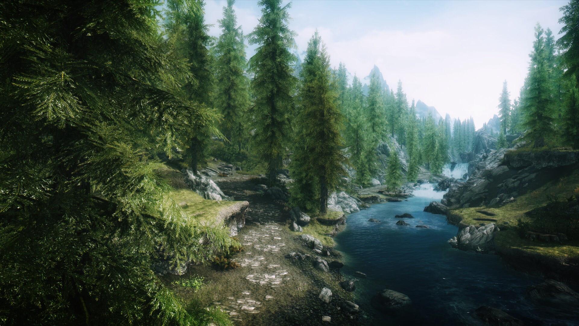 Skyrim's beautiful scenery