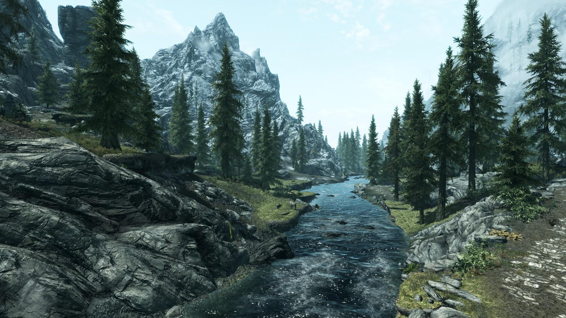 skyrim landscape HD Wallpaper