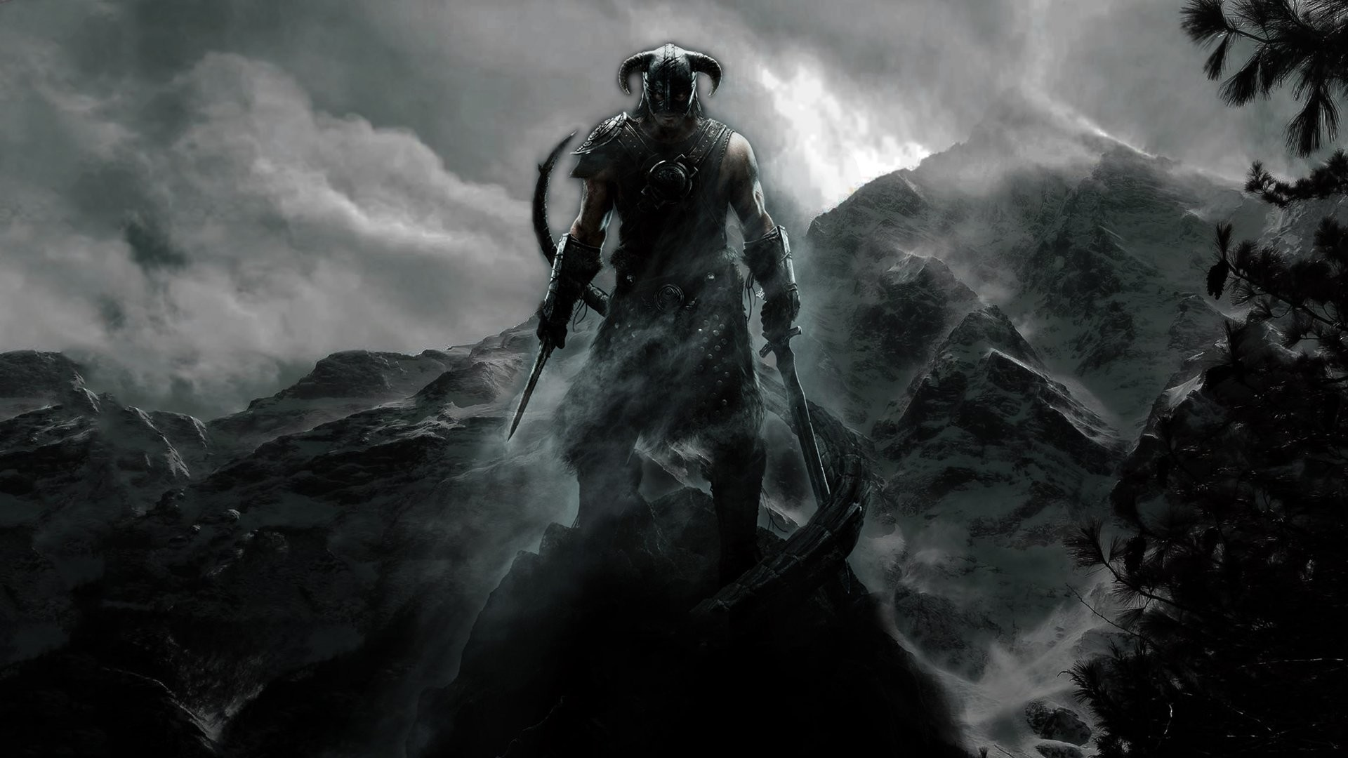 Skyrim Dragonborn Mage Desktop Wallpaper by grambocrackah on