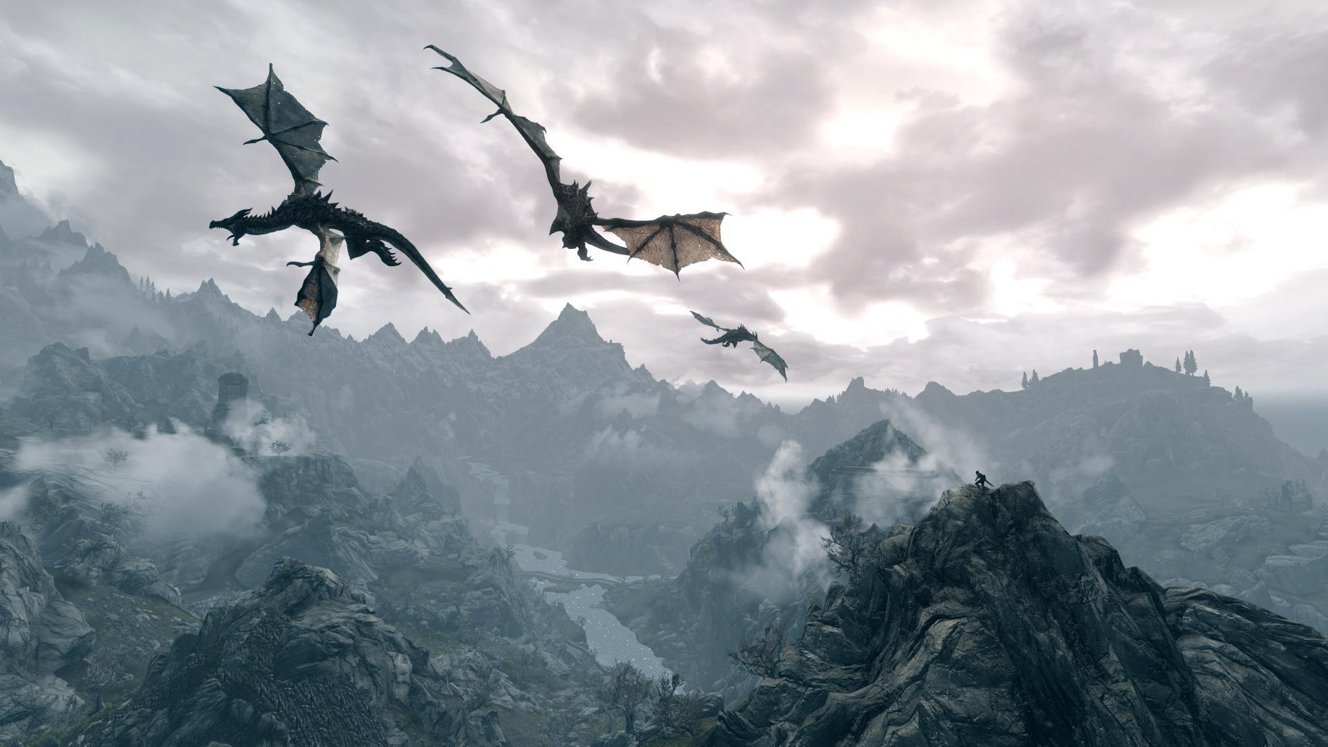 Skyrim Dragon Wallpaper HD