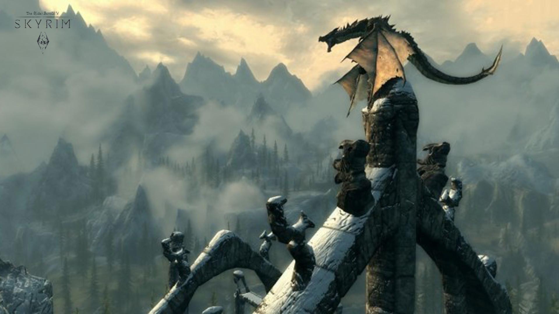 Skyrim Dragon Wallpaper #dCXpU